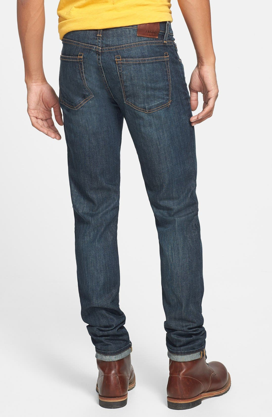 Alternate Image 2  - J Brand Skinny Fit Selvedge Jeans (Theorem)