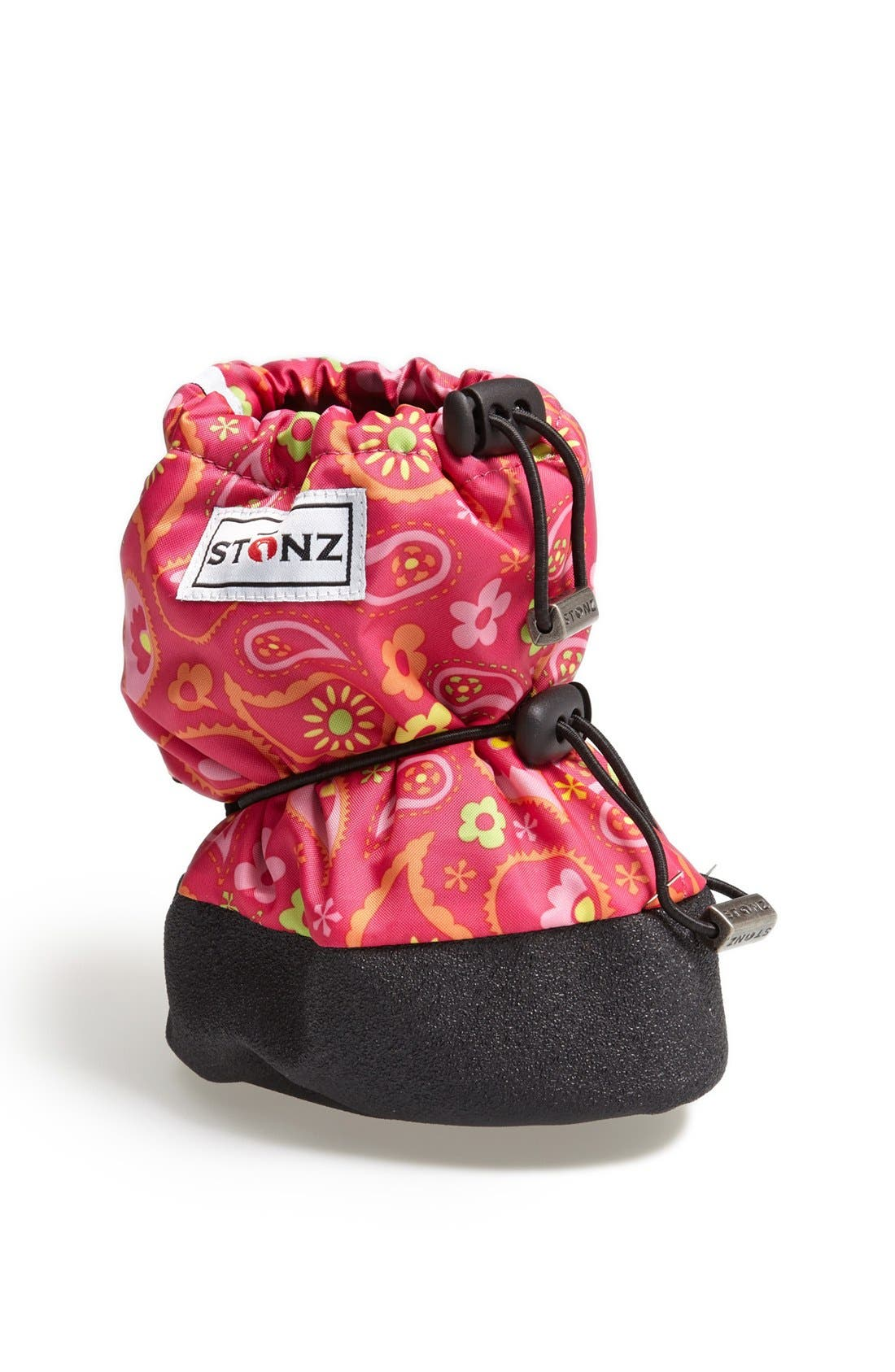 Alternate Image 1 Selected - Stonz Paisley Pink Water Resistant Over-Shoe Bootie (Baby & Walker)