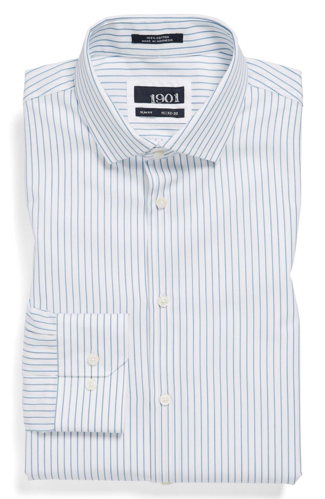 Alternate Image 1 Selected - 1901 Slim Fit Stripe Dress Shirt