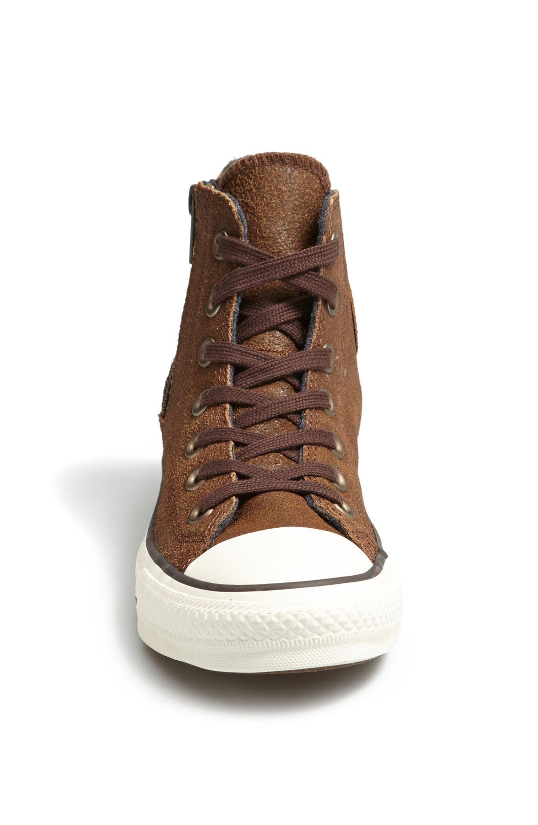 Alternate Image 3  - Converse Chuck Taylor® 'Aviator' Side Zip Leather High Top Sneaker (Women)