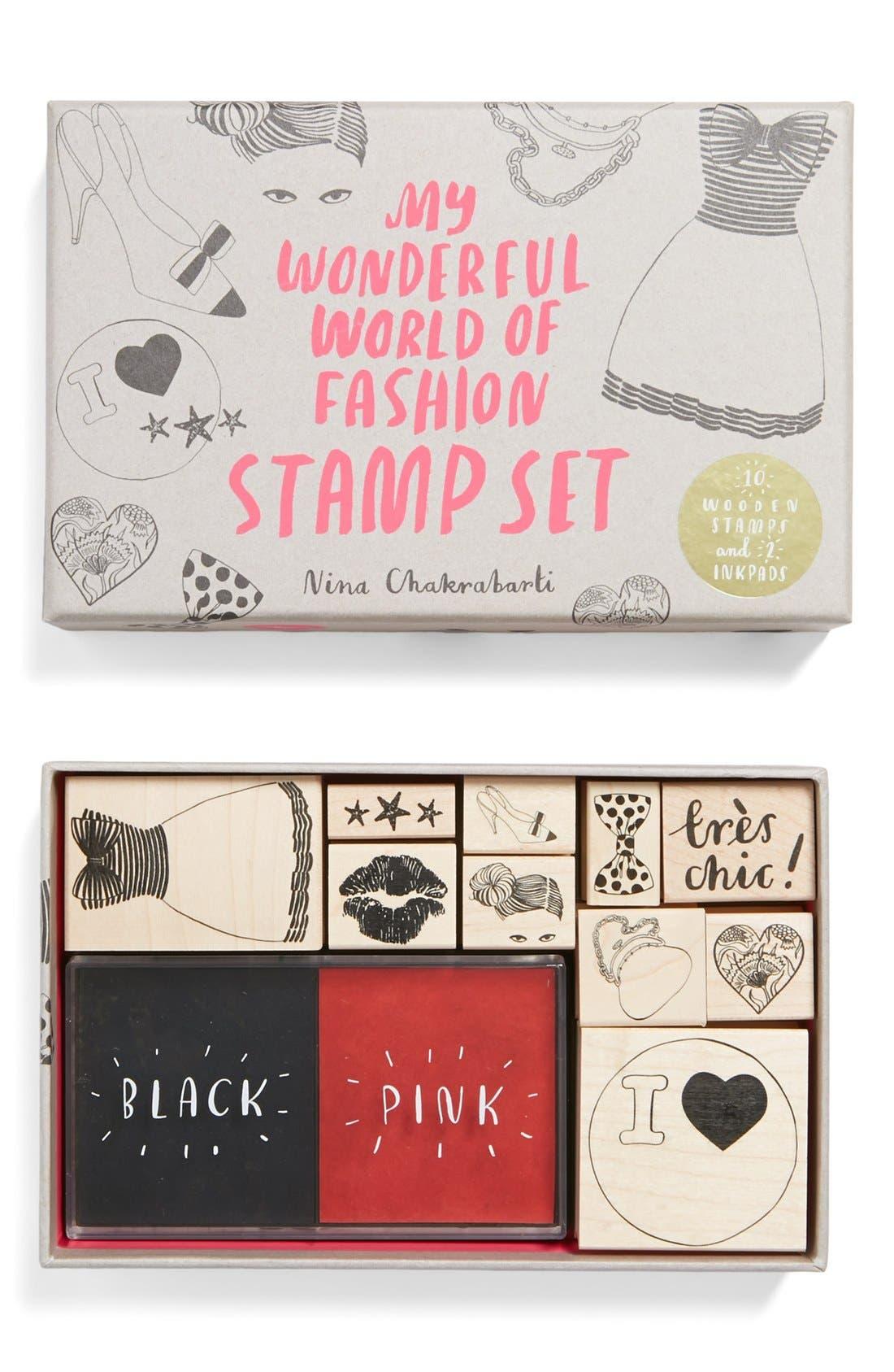 Alternate Image 1 Selected - My Wonderful World of Fashion' Stamp Set