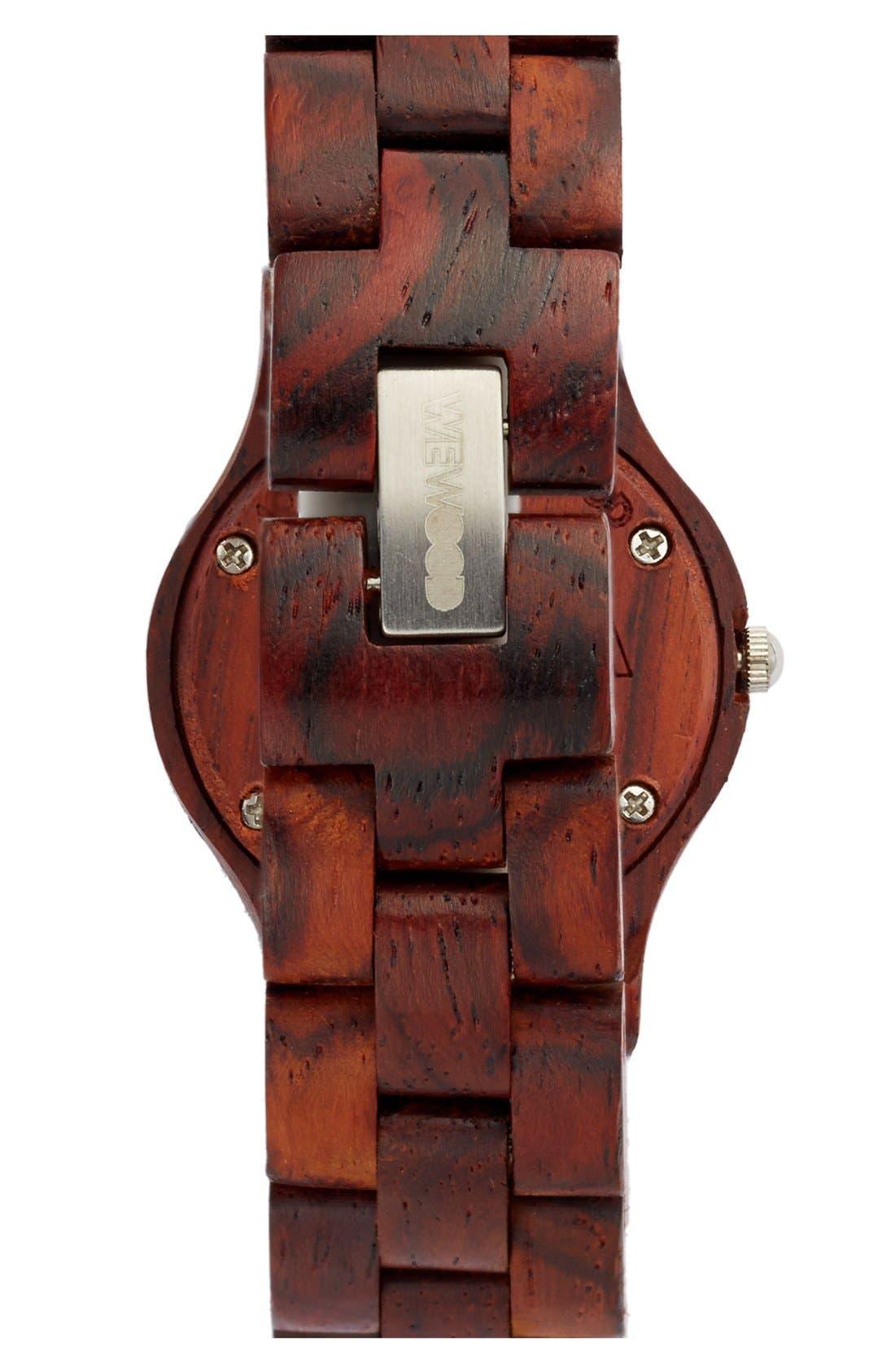 Alternate Image 3  - WeWOOD 'Moon' Wood Watch, 32mm