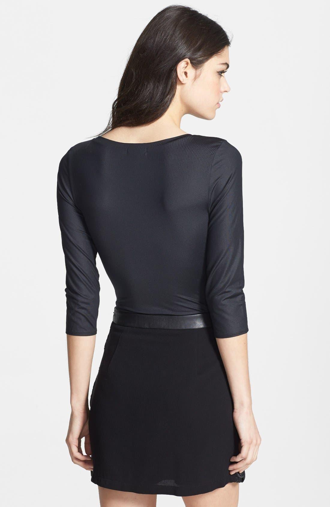 Alternate Image 2  - Leith Three Quarter Length Sleeve Bodysuit