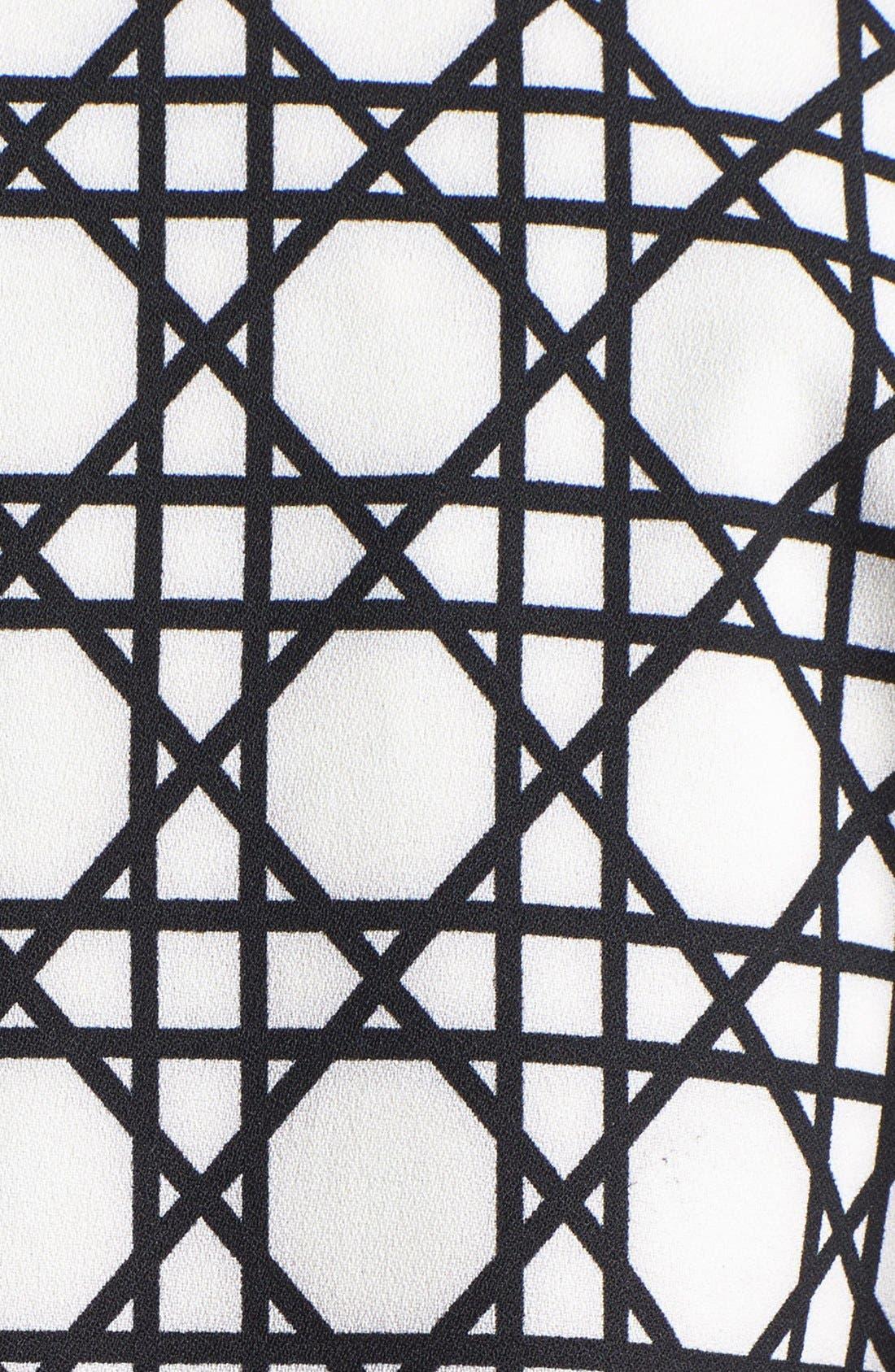 Alternate Image 3  - Harlowe and Graham Graphic Print Swing Coat