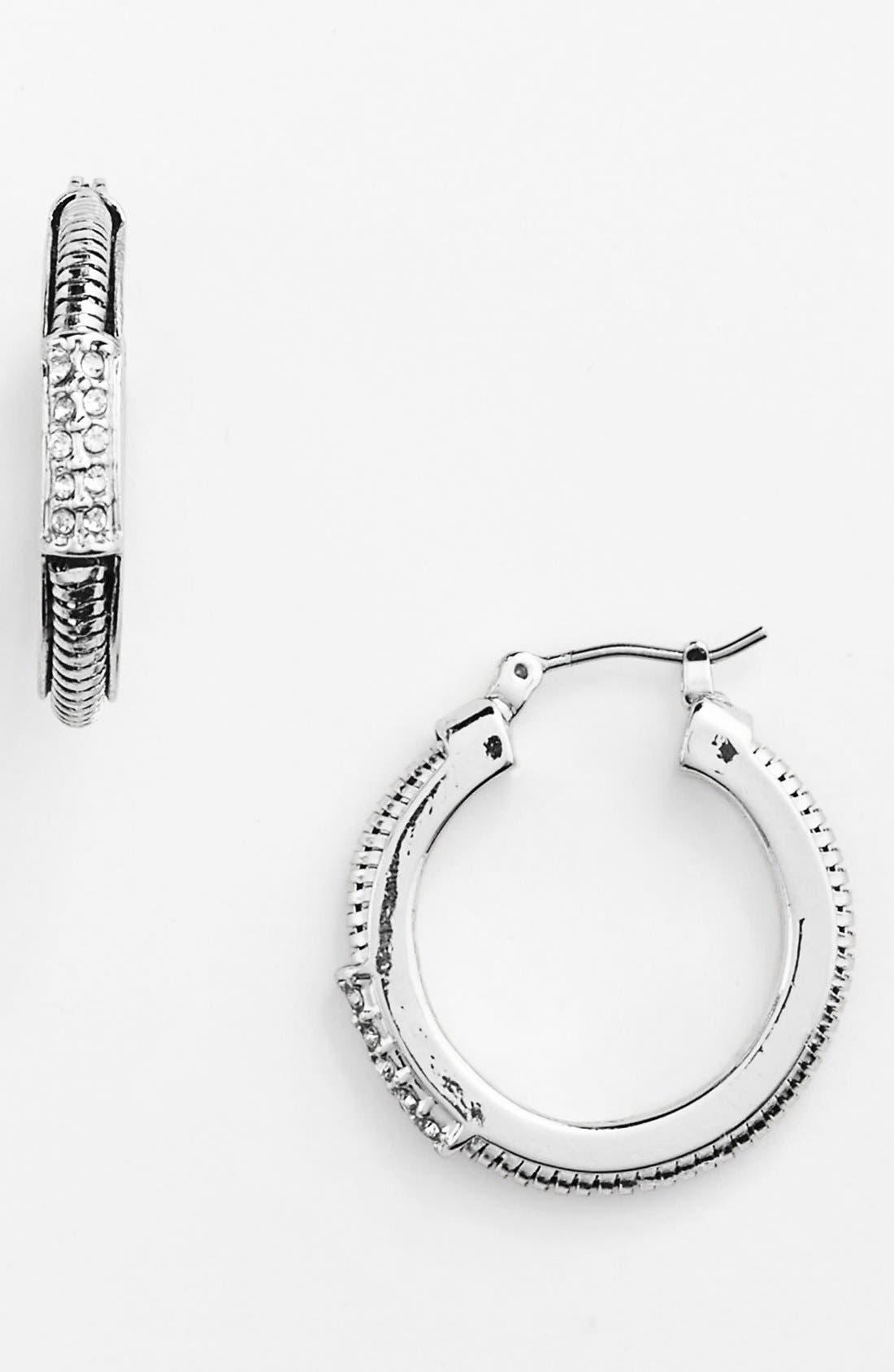 Alternate Image 1 Selected - Anne Klein Snake Chain Hoop Earrings