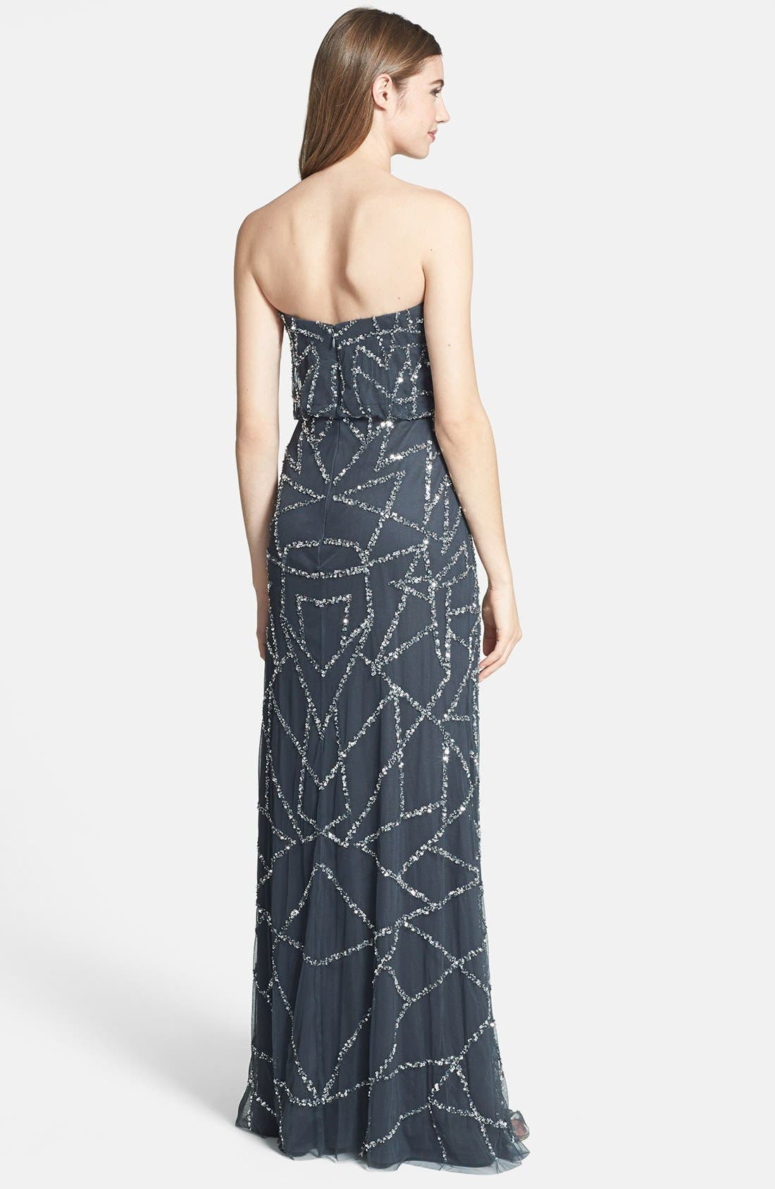 Alternate Image 2  - Adrianna Papell Embellished Strapless Blouson Gown