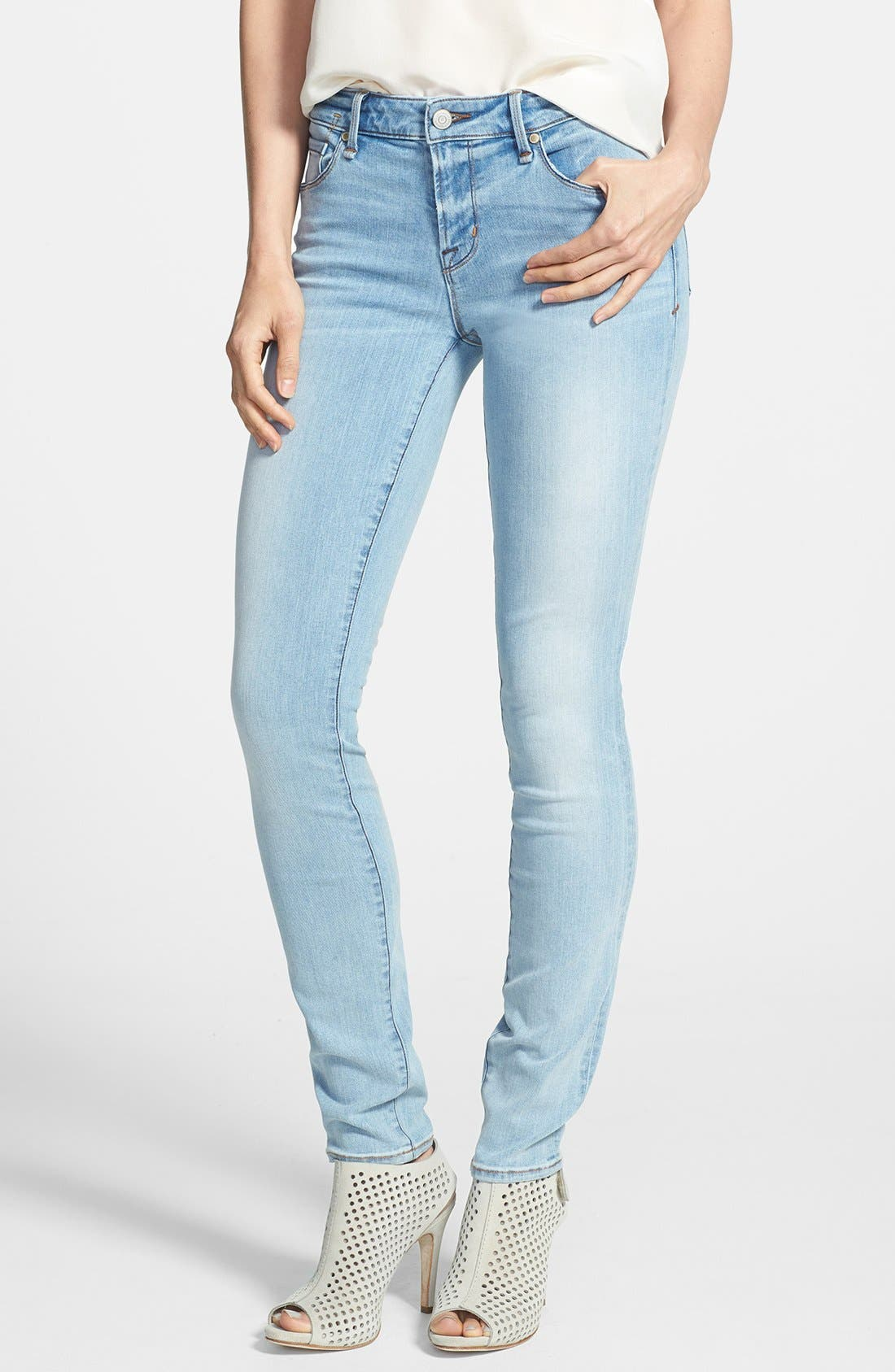 Alternate Image 1 Selected - MARC BY MARC JACOBS 'Gaia' Stretch Super Skinny Jeans (Avalon)