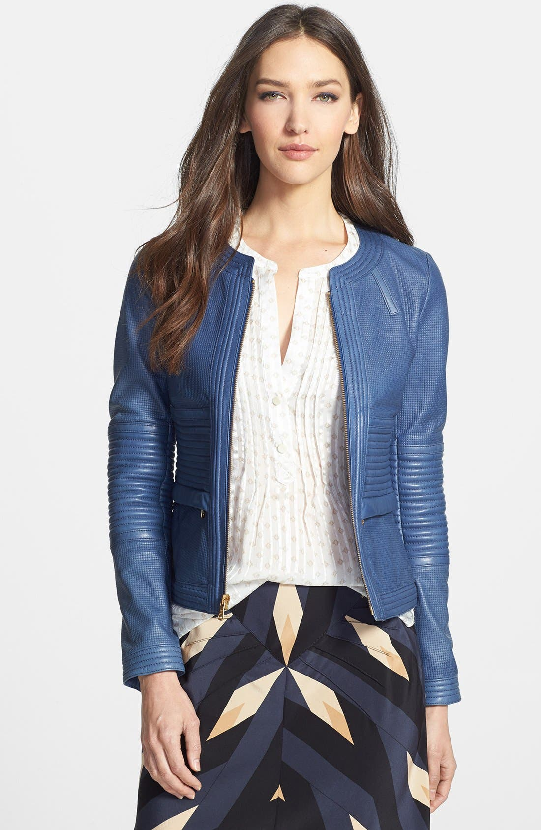 Alternate Image 1 Selected - MARC BY MARC JACOBS 'Darcey' Textured Leather Jacket