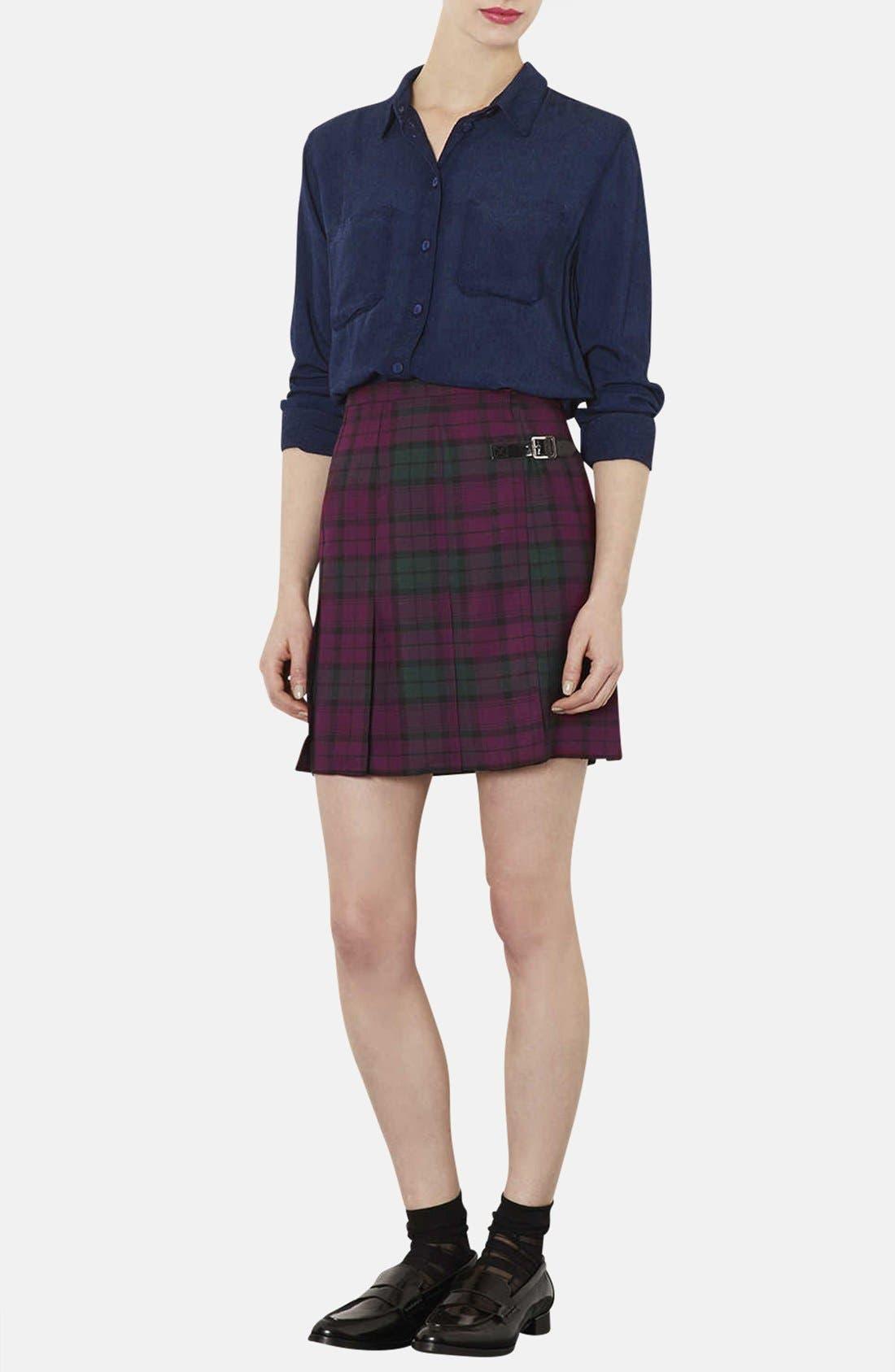 Alternate Image 4  - Topshop Plaid Kilt Skirt