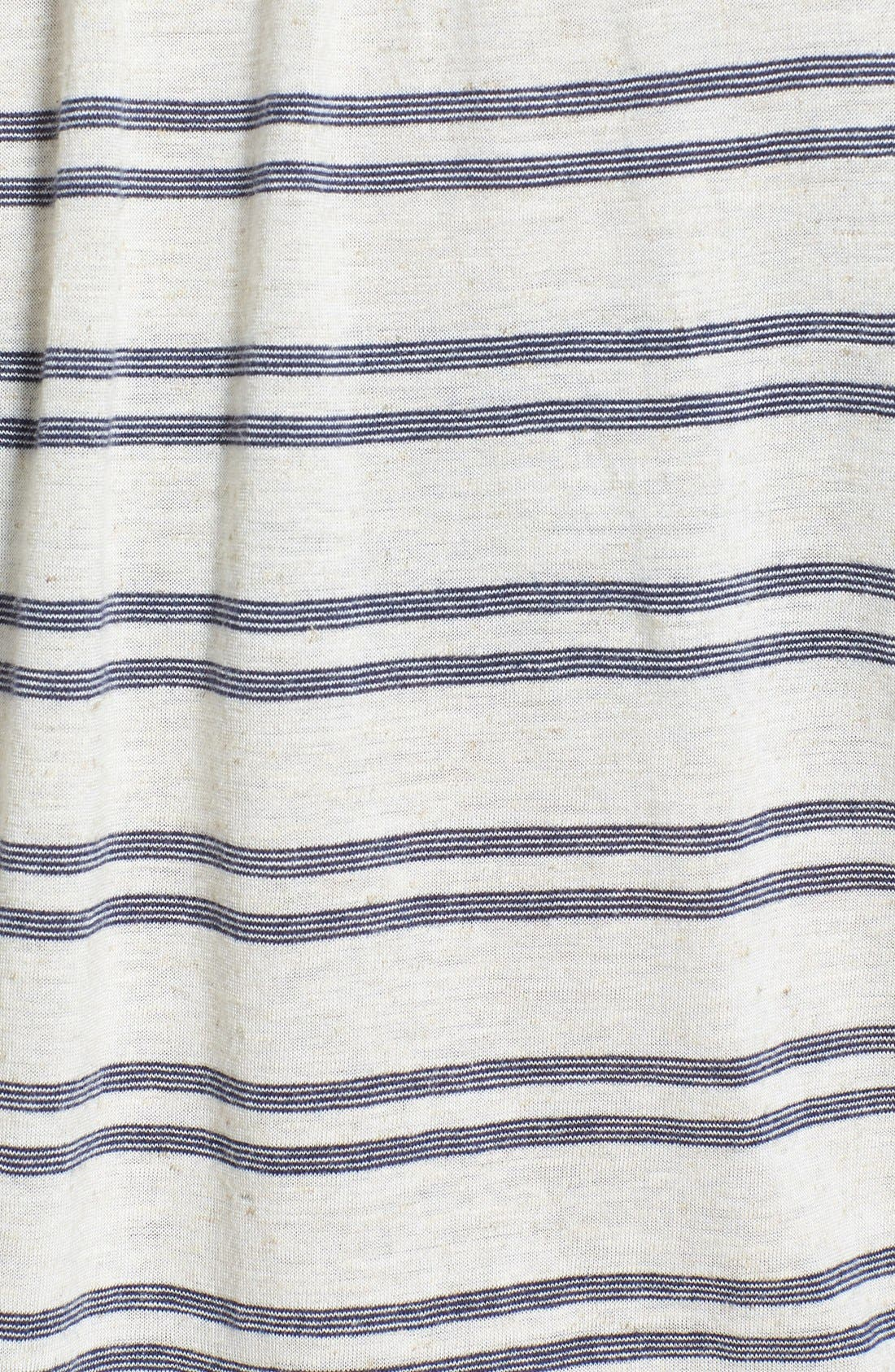 Alternate Image 3  - Lucky Brand Stripe Tie Front Top (Plus Size)
