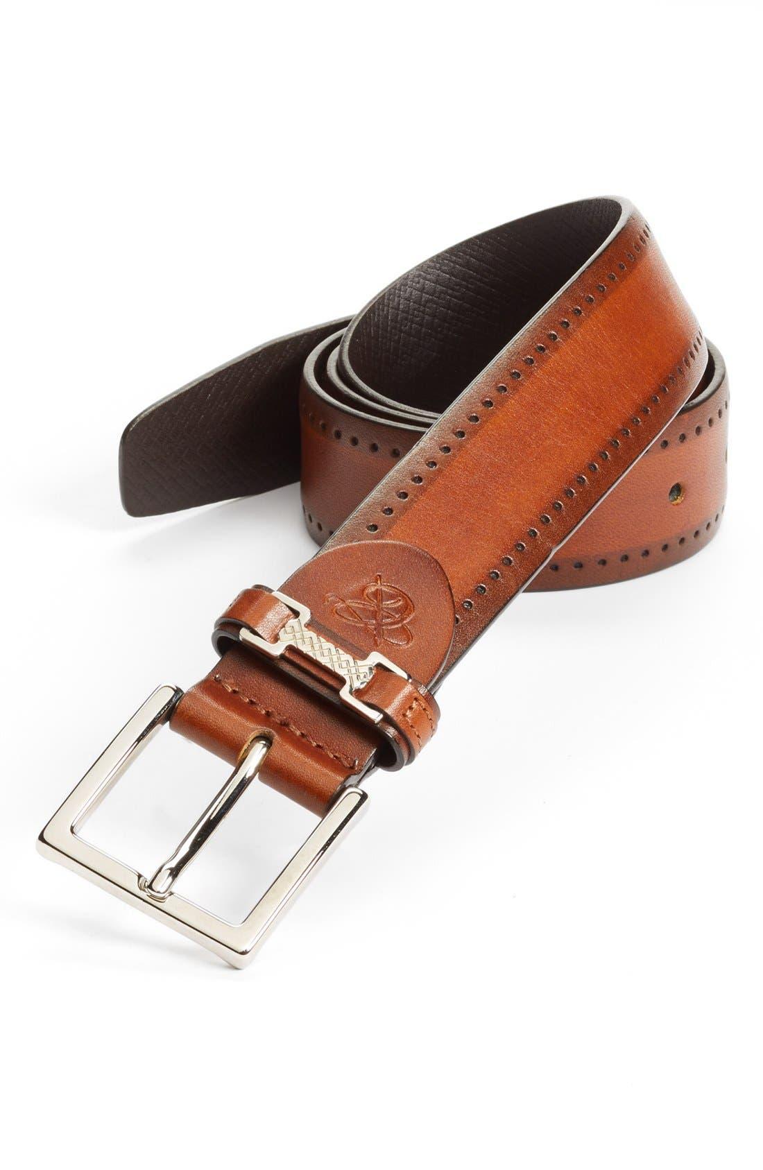 Alternate Image 1 Selected - Canali Leather Belt