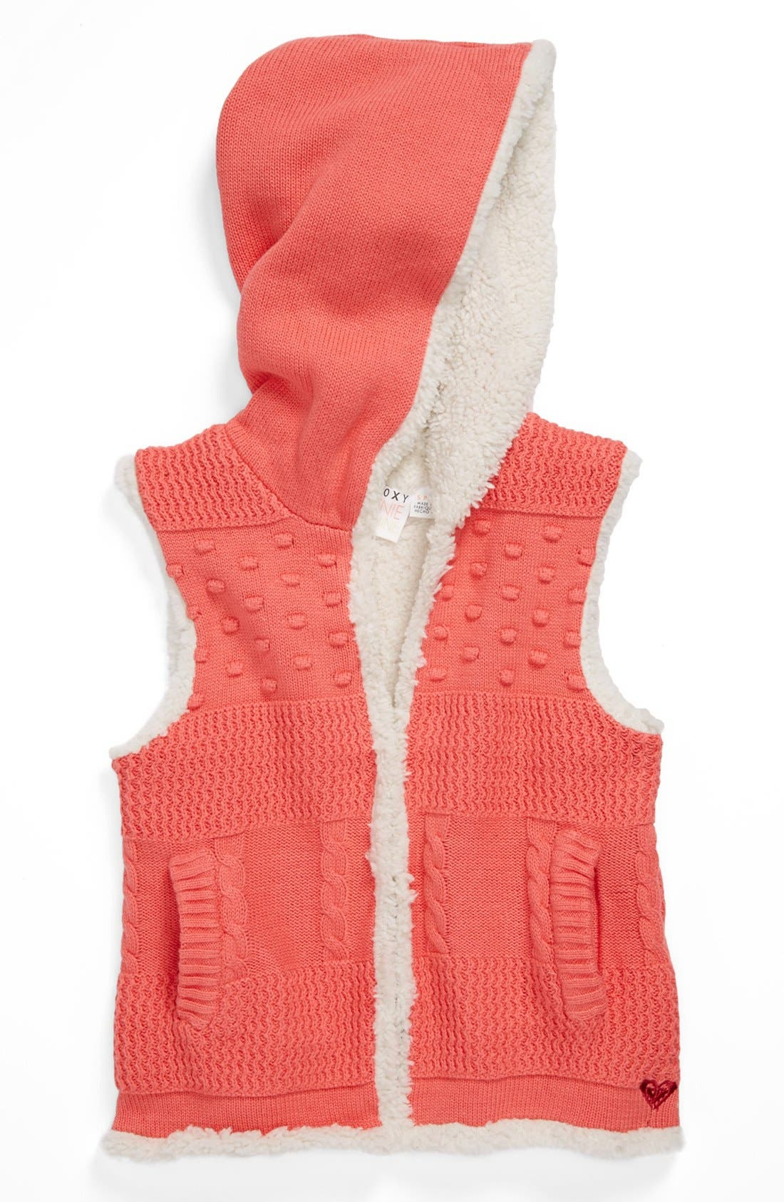 Main Image - Roxy 'Cold Front' Hooded Vest (Toddler Girls)