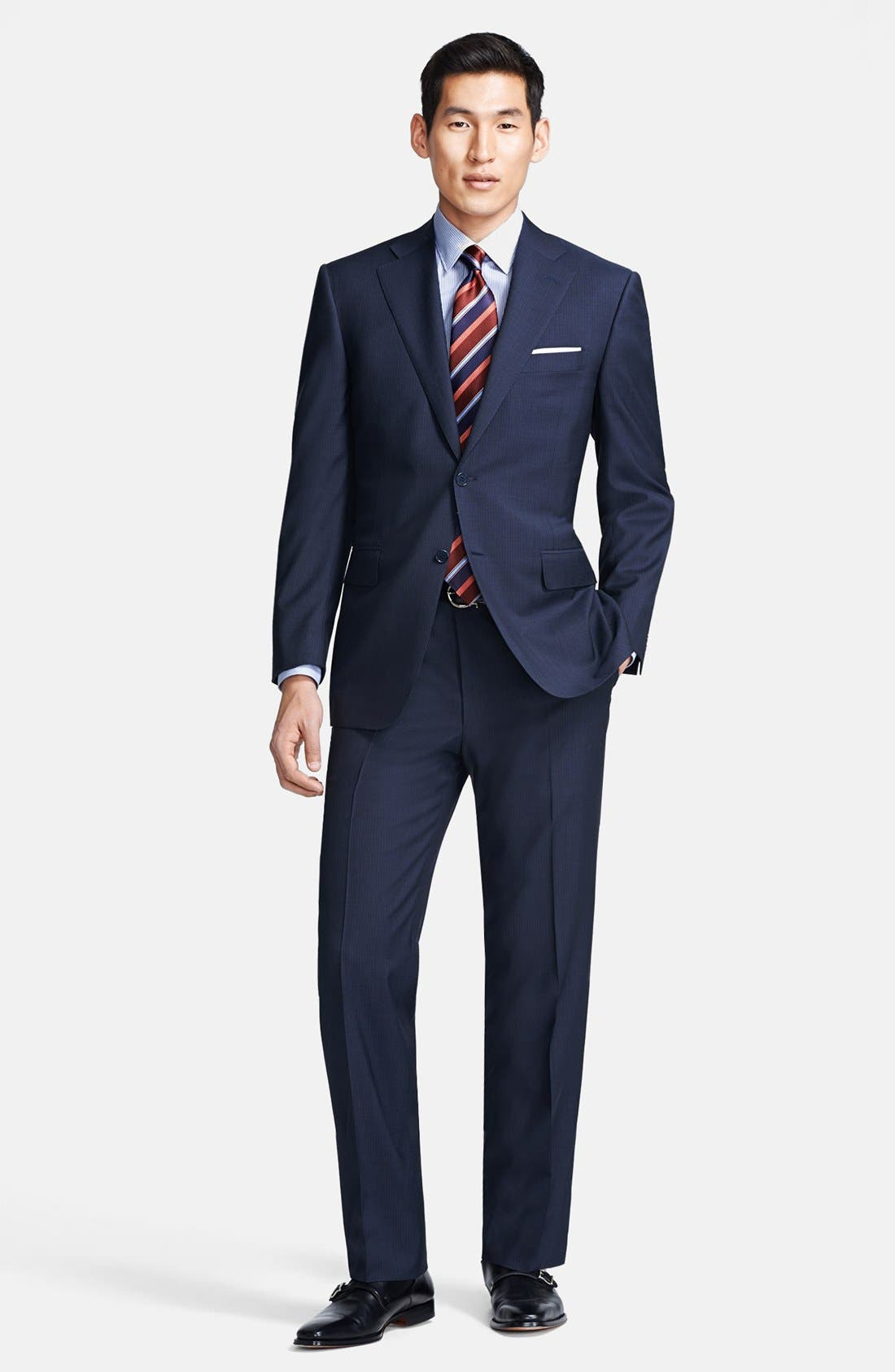 Alternate Image 1 Selected - Canali Classic Fit Stripe Suit