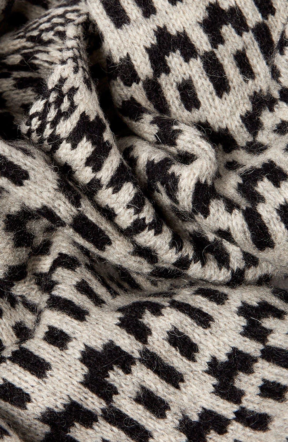 Alternate Image 2  - Topman Pattern Lambswool Scarf