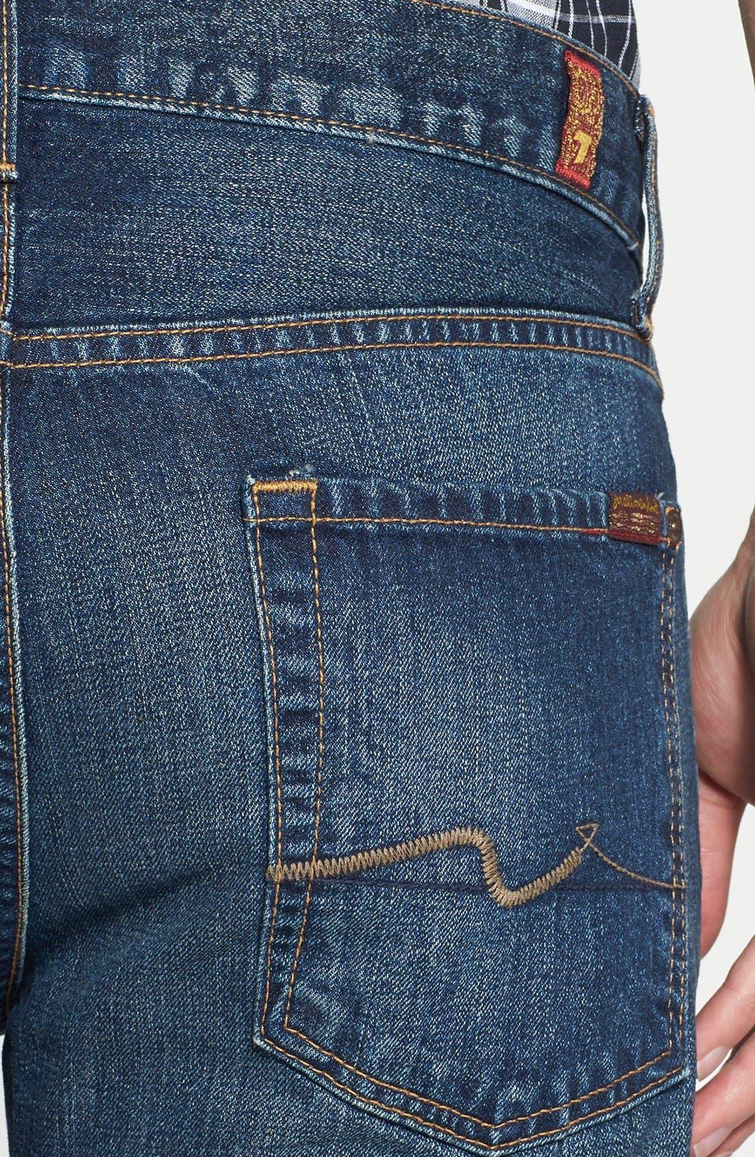 Alternate Image 4  - 7 For All Mankind® 'Slimmy' Slim Fit Jeans (Shibuya Road)