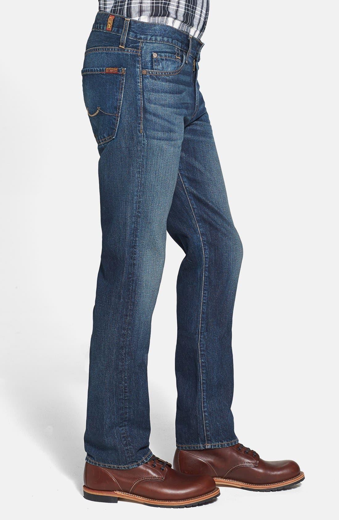Alternate Image 3  - 7 For All Mankind® 'Slimmy' Slim Fit Jeans (Shibuya Road)