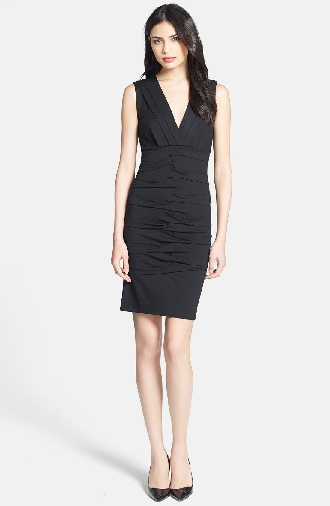 Alternate Image 1 Selected - Nicole Miller Sleeveless Jersey Sheath Dress