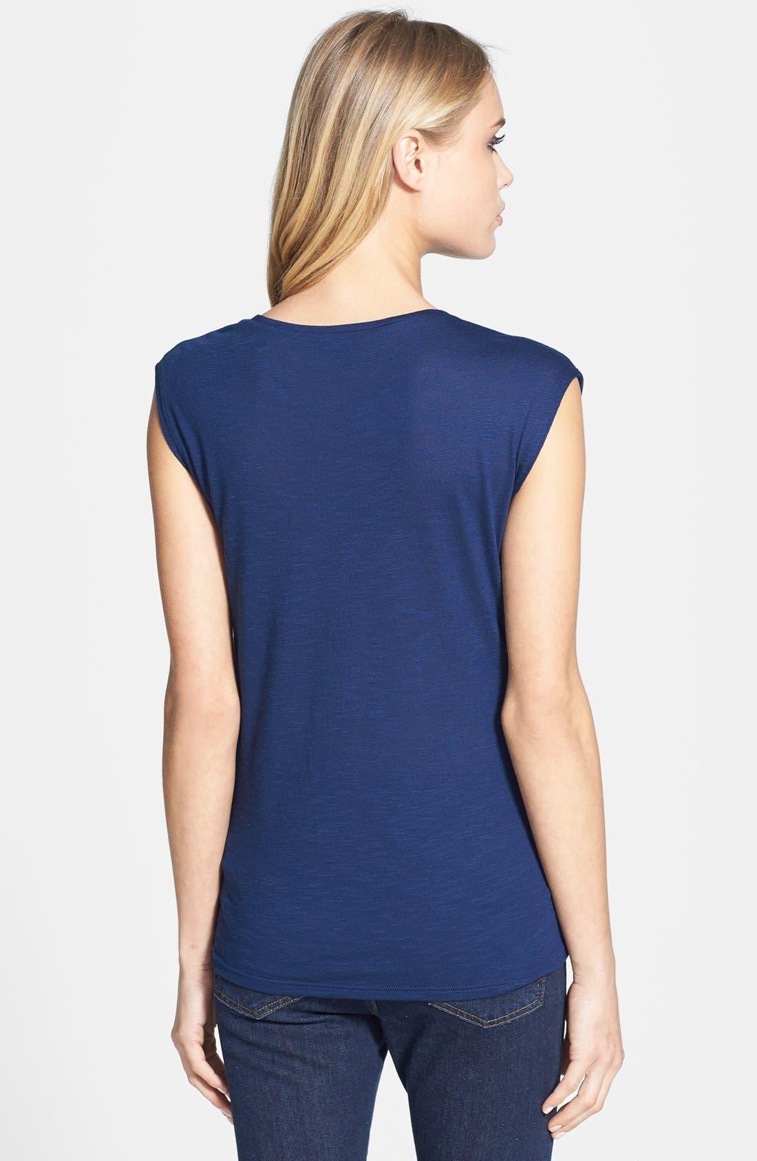 Alternate Image 2  - Topshop Drape Jersey Top