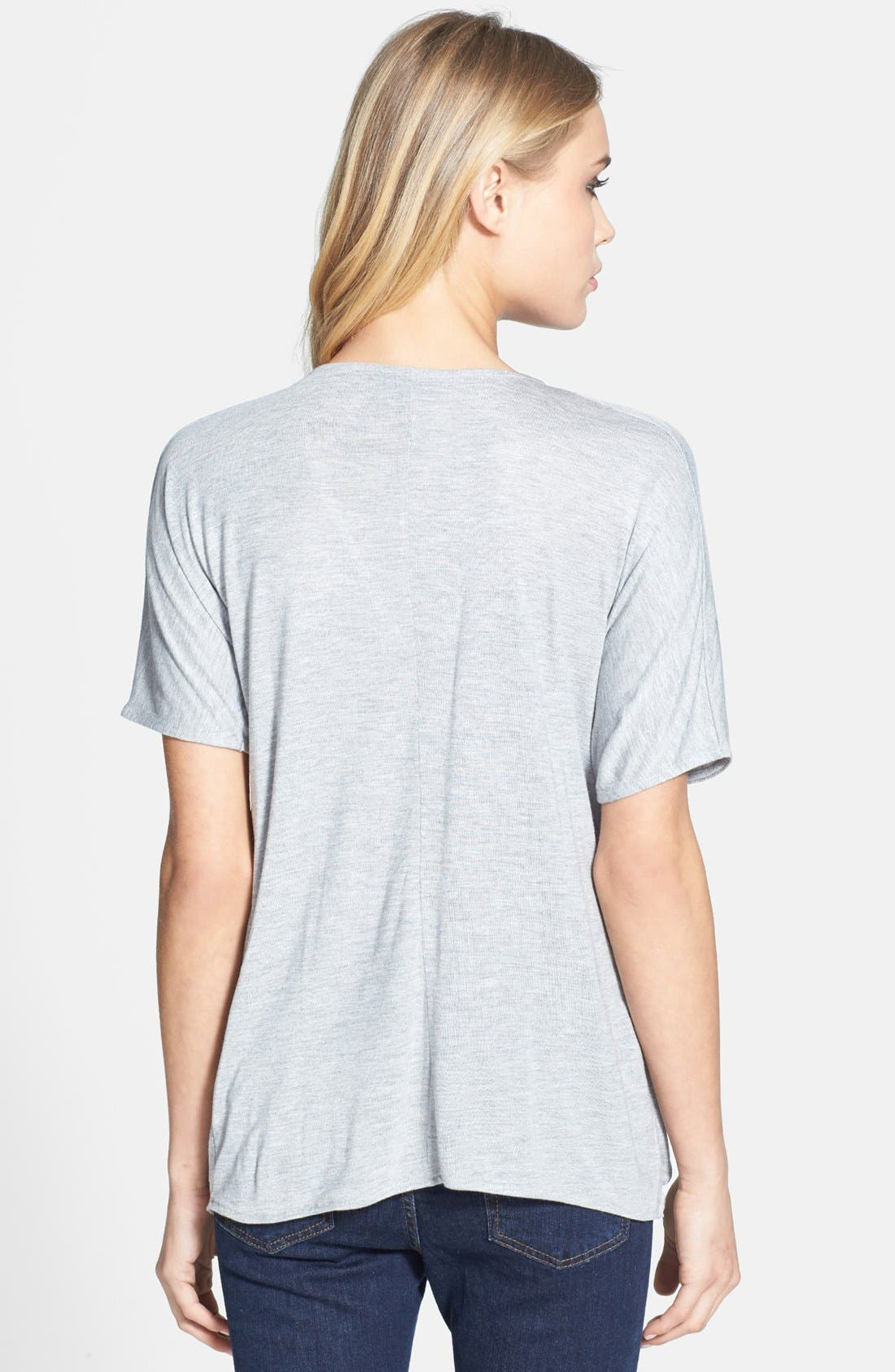 Alternate Image 2  - Topshop Drape Front Tee