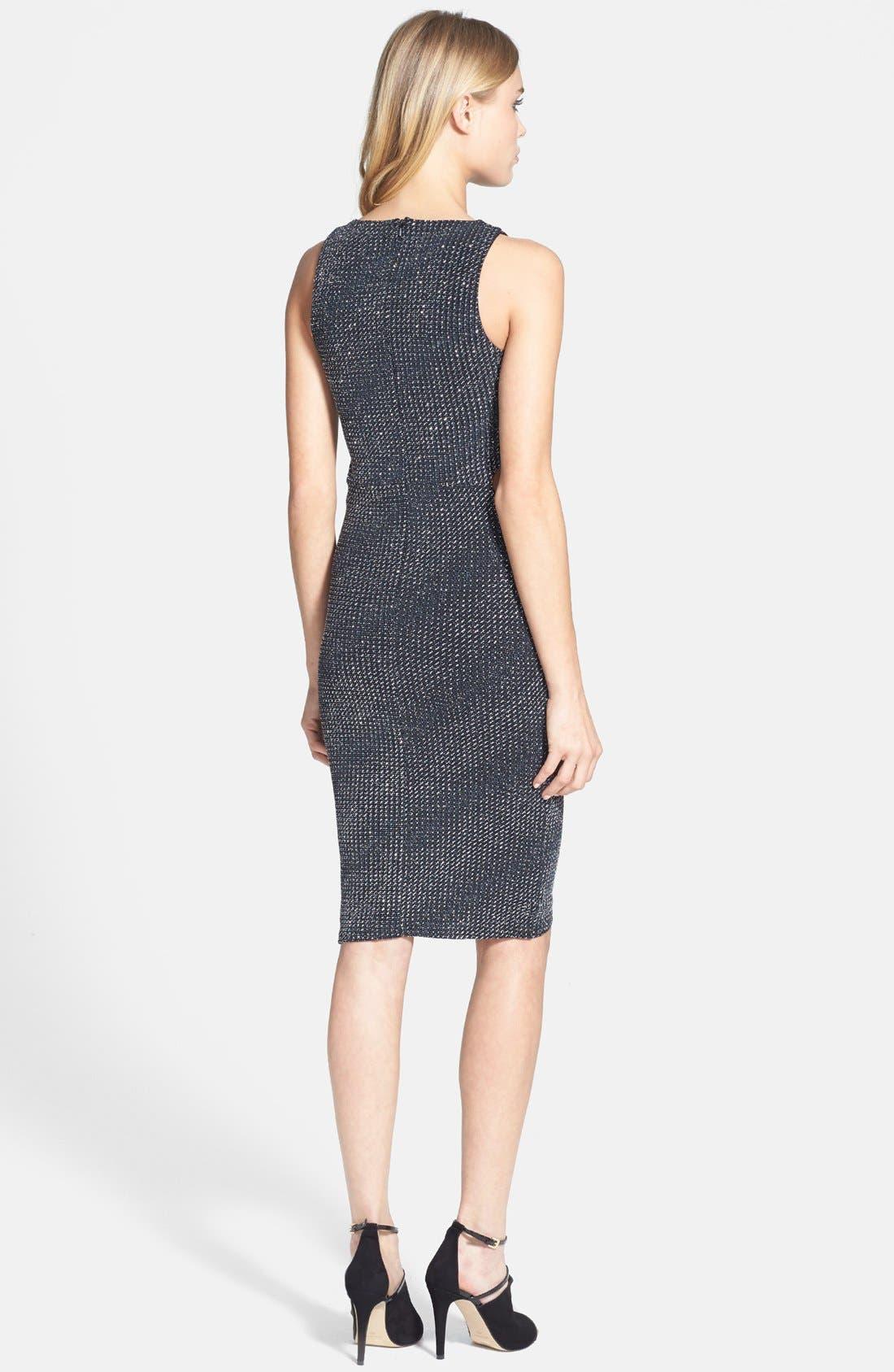 Alternate Image 2  - Topshop Cutout Metallic Jersey Midi Dress