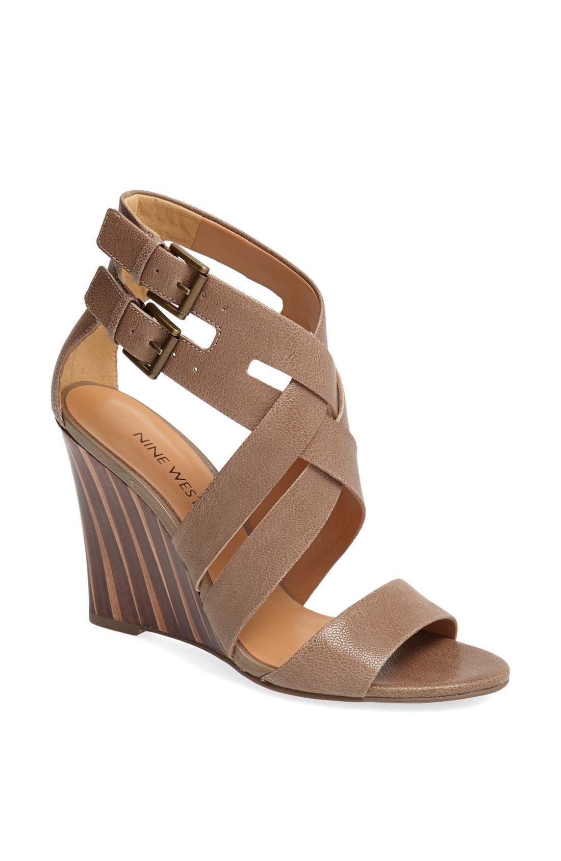 Alternate Image 1 Selected - Nine West 'Maureen' Wedge Sandal