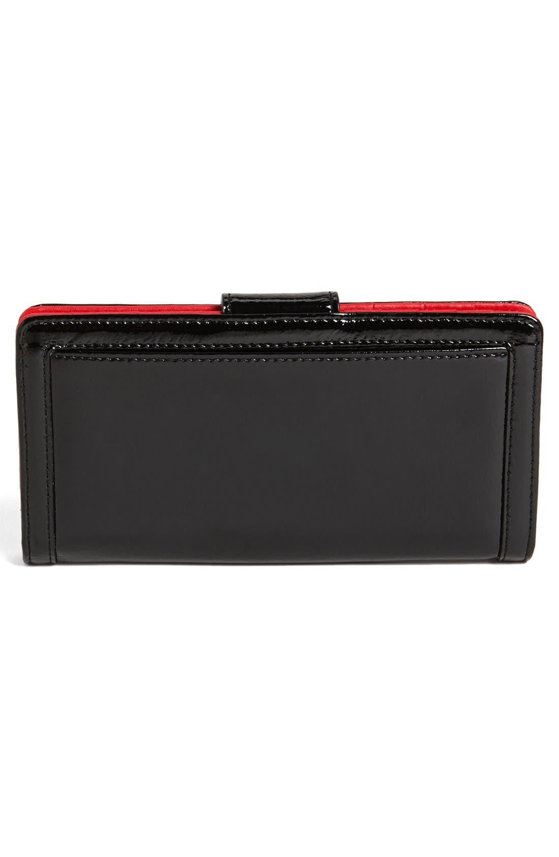 Alternate Image 3  - Halogen® 'Victoria' Patent Leather Wallet
