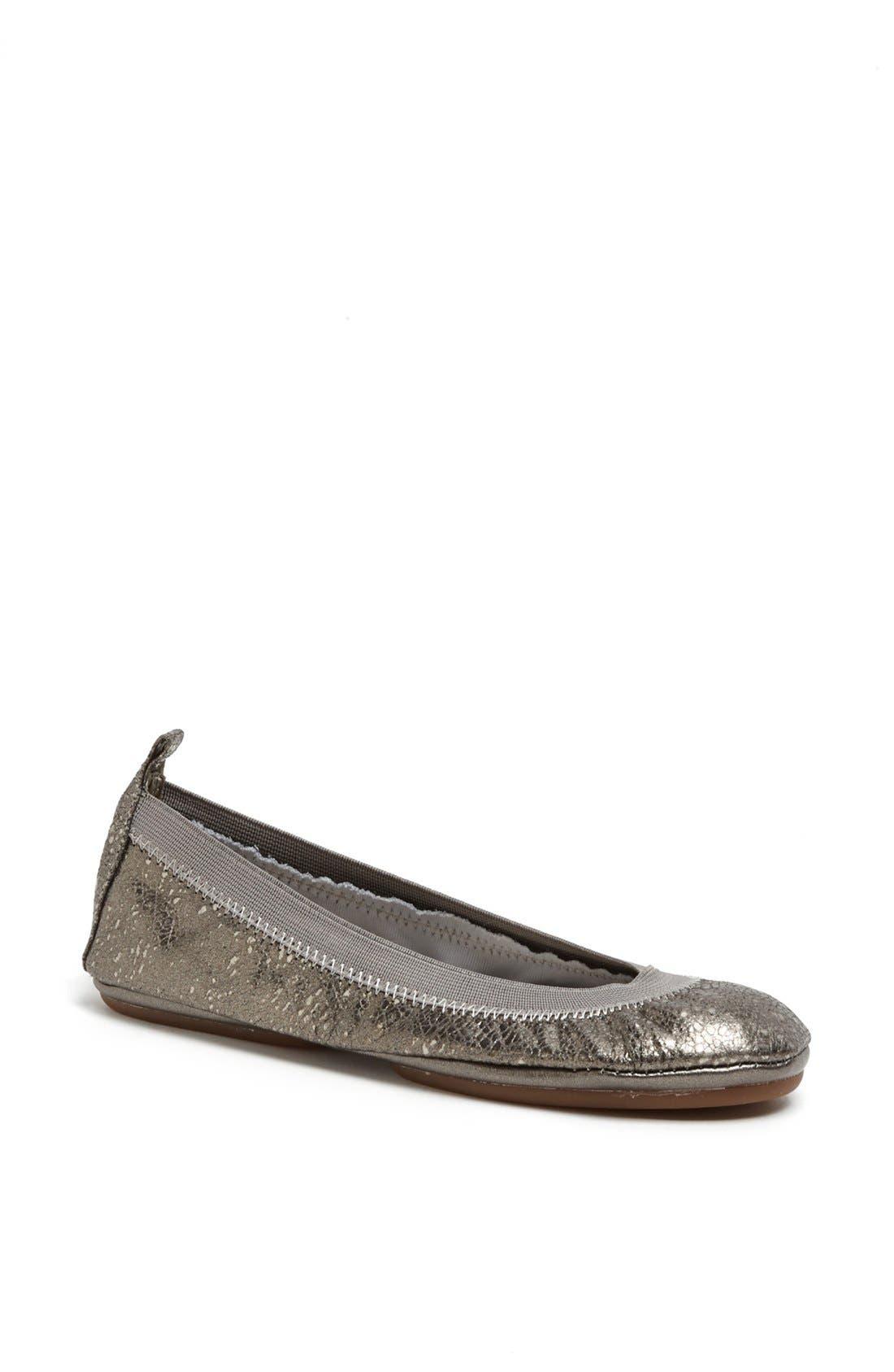 Alternate Image 1 Selected - Yosi Samra Metallic Foldable Ballet Flat
