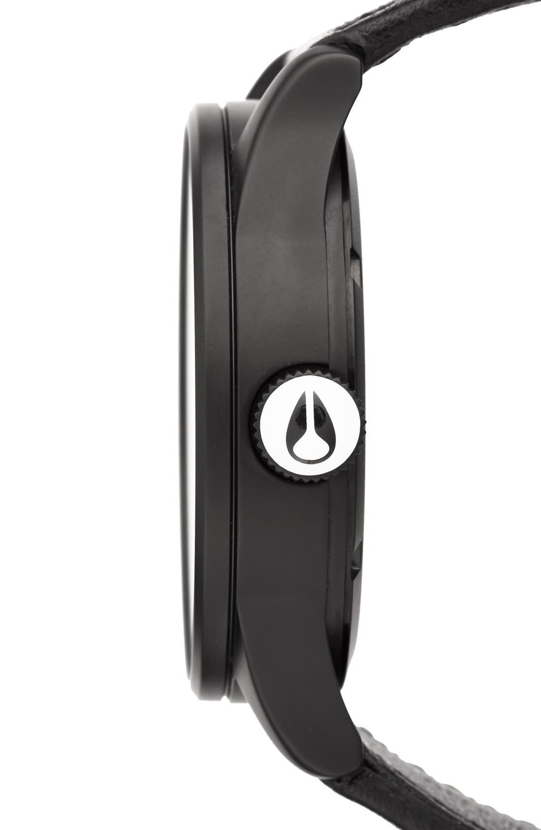 Alternate Image 3  - Nixon The Sentry Leather Strap Watch, 42mm