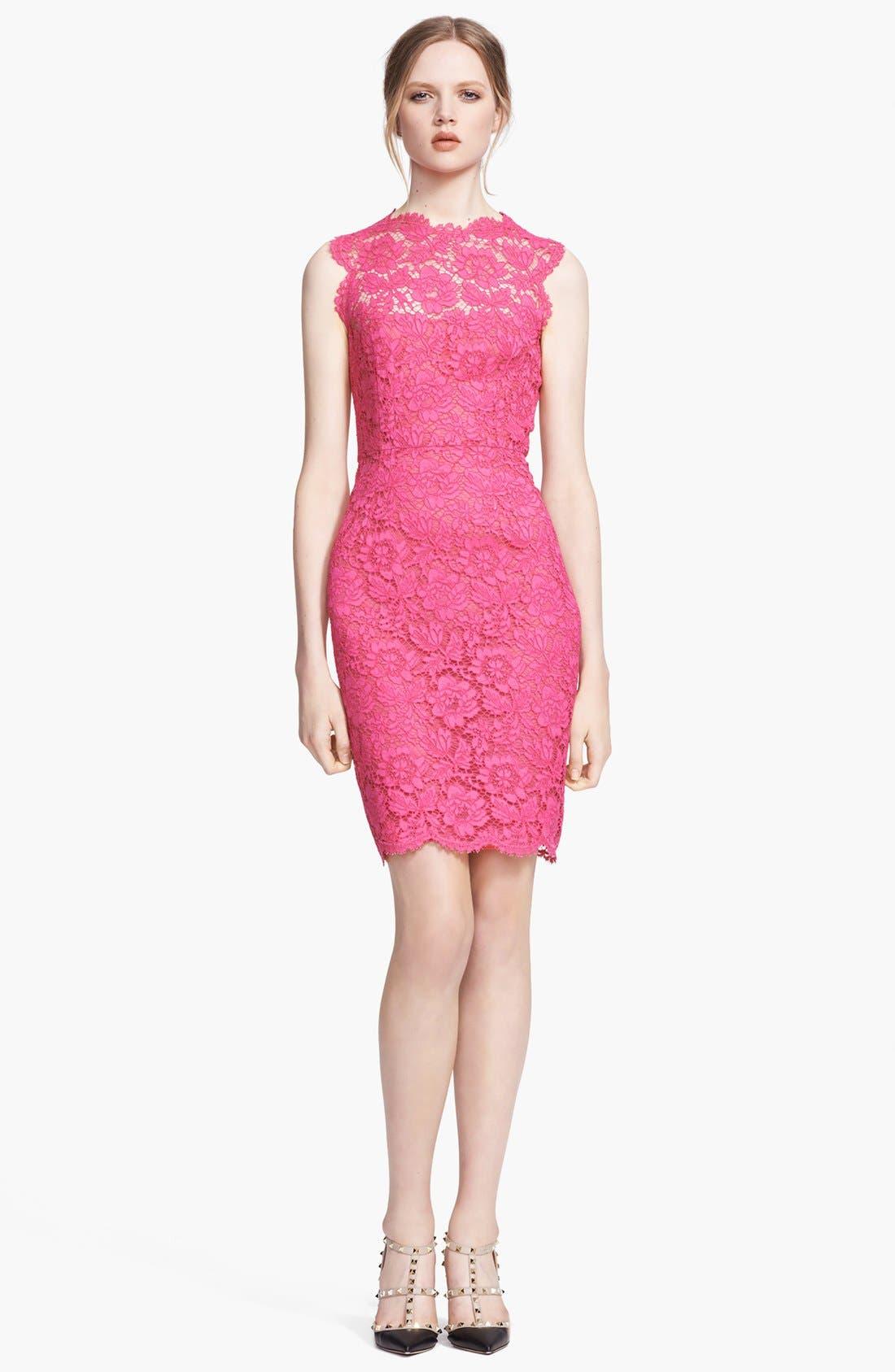 Alternate Image 1 Selected - Valentino Lace Sheath Dress