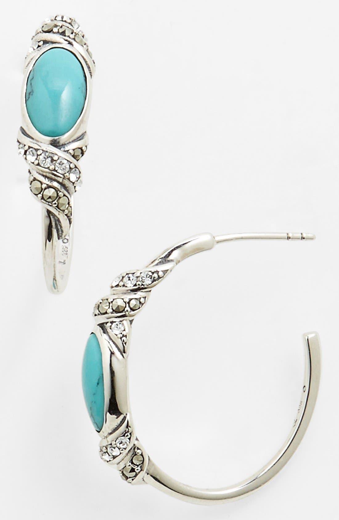 Alternate Image 1 Selected - Judith Jack 'Paradise' Hoop Earrings