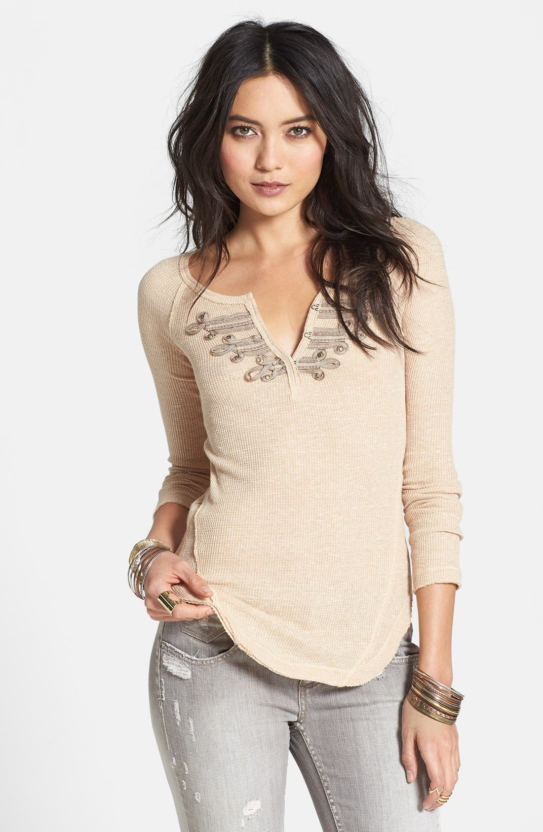 Main Image - Free People 'Battalion' Embellished Thermal Top