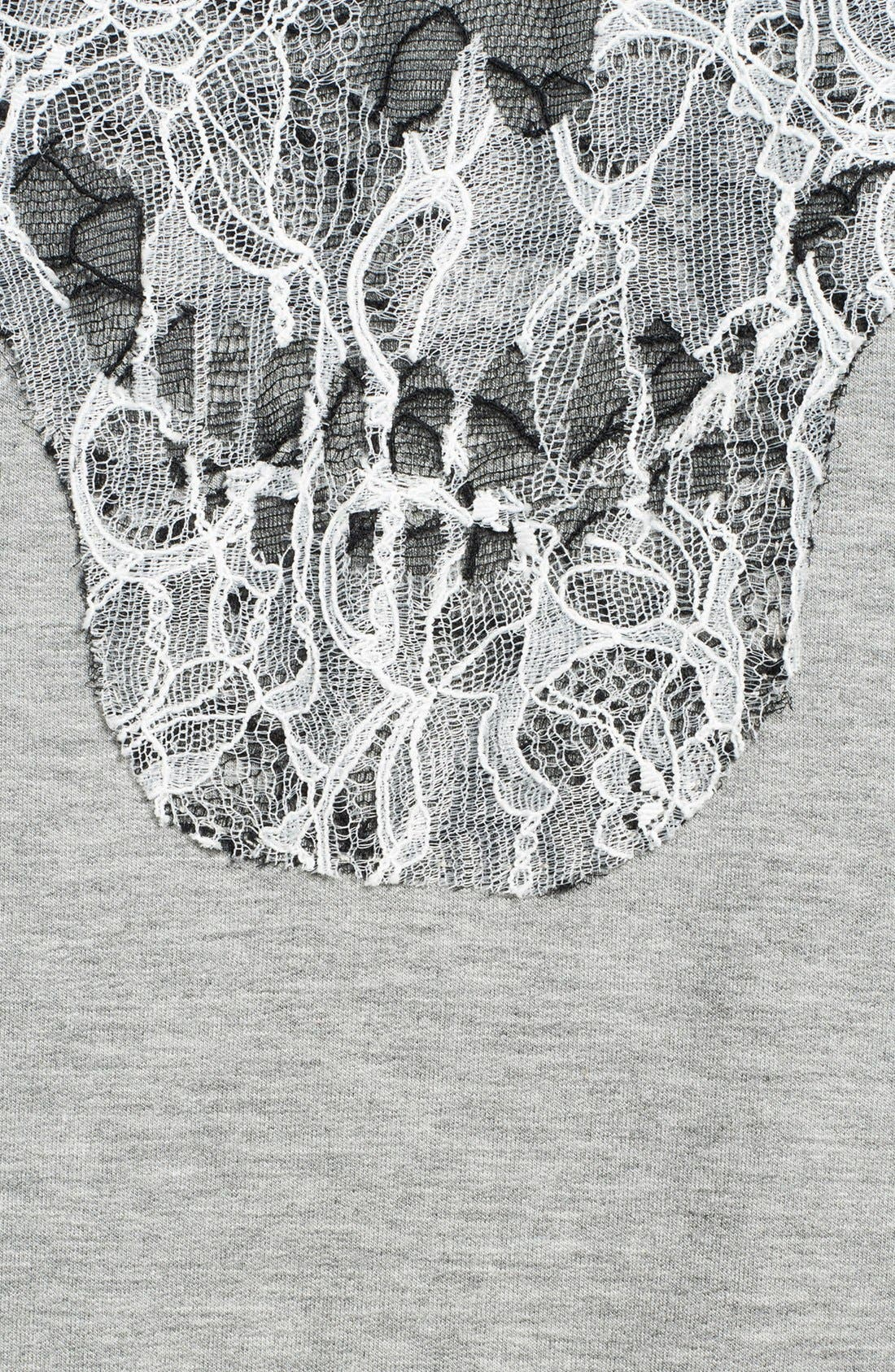 Alternate Image 3  - Haute Hippie Embroidered Lace Skull Hoodie