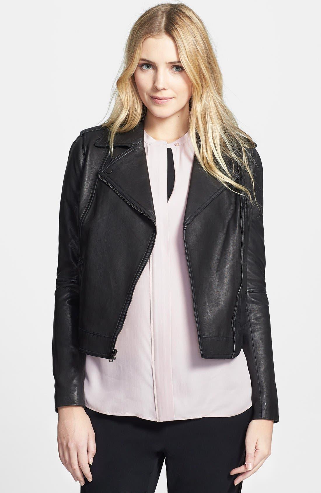 Alternate Image 1 Selected - Vince Vintage Leather Moto Jacket