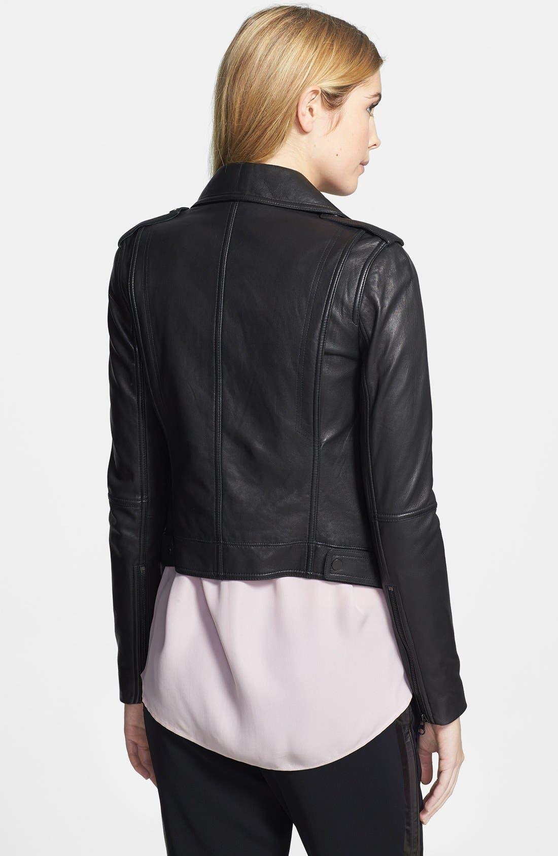 Alternate Image 2  - Vince Vintage Leather Moto Jacket