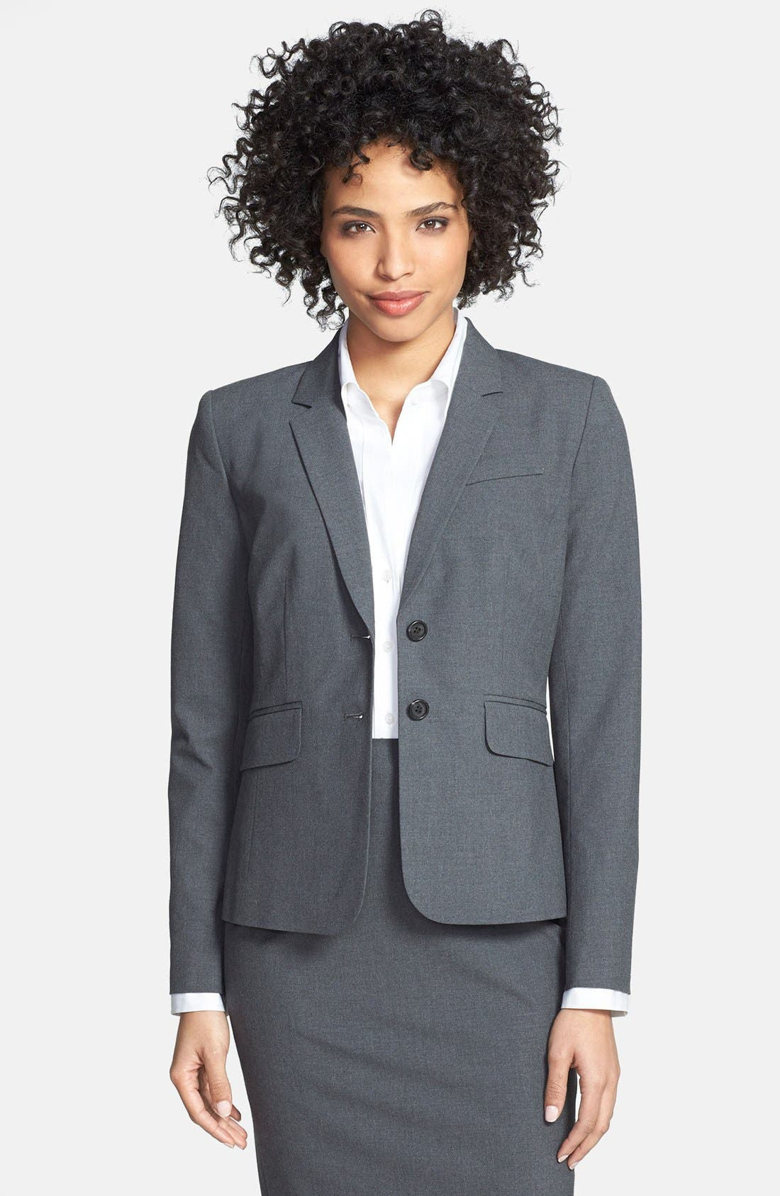 Alternate Image 1 Selected - Halogen® 'Ela' Suit Jacket (Regular & Petite)