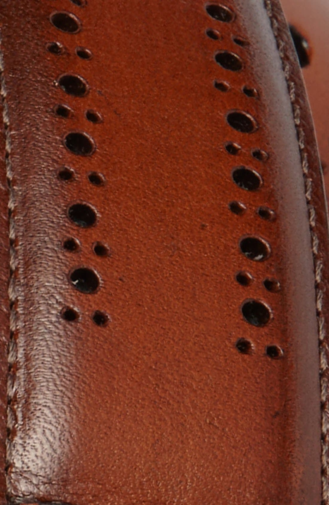 Alternate Image 2  - Allen Edmonds Manistee Brogue Leather Belt