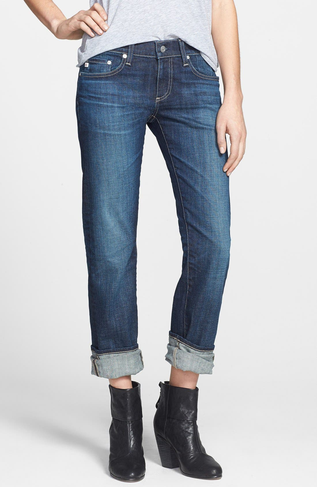 Alternate Image 4  - AG 'The Tomboy' Relaxed Straight Leg Jeans (Six Year Compass)