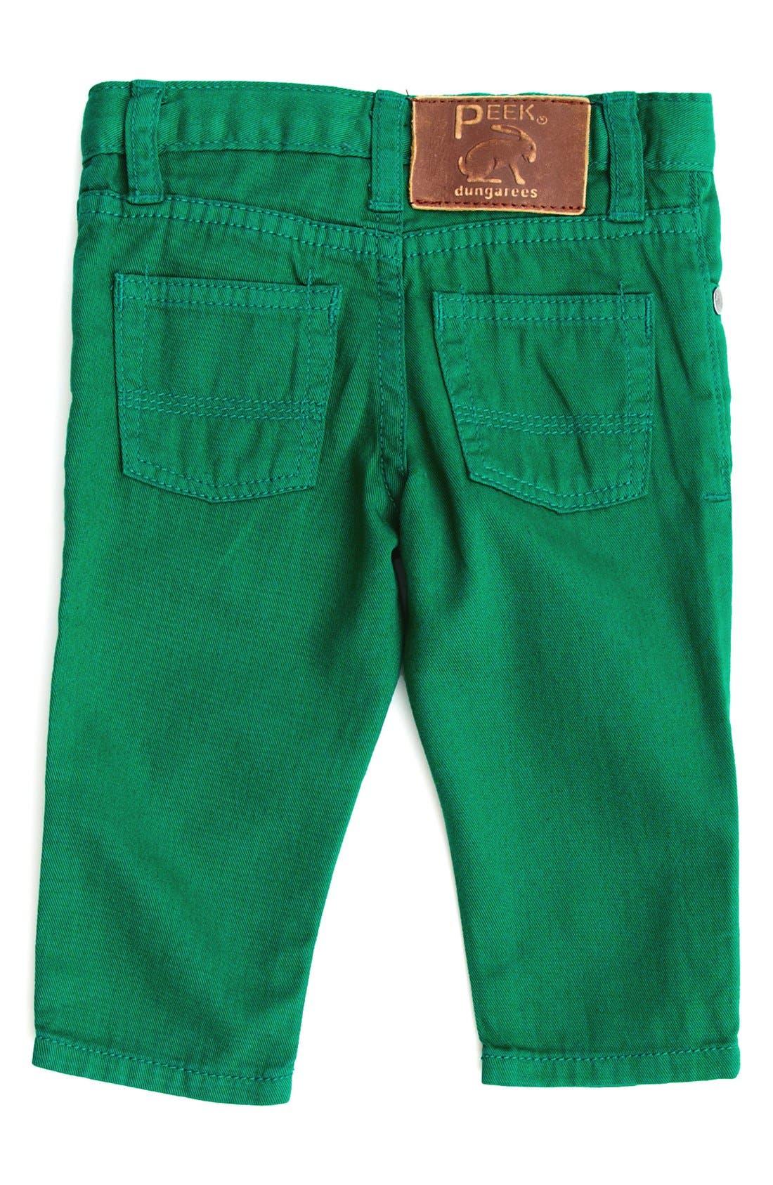 Alternate Image 2  - Peek Slouch Twill Jeans (Baby Boys)