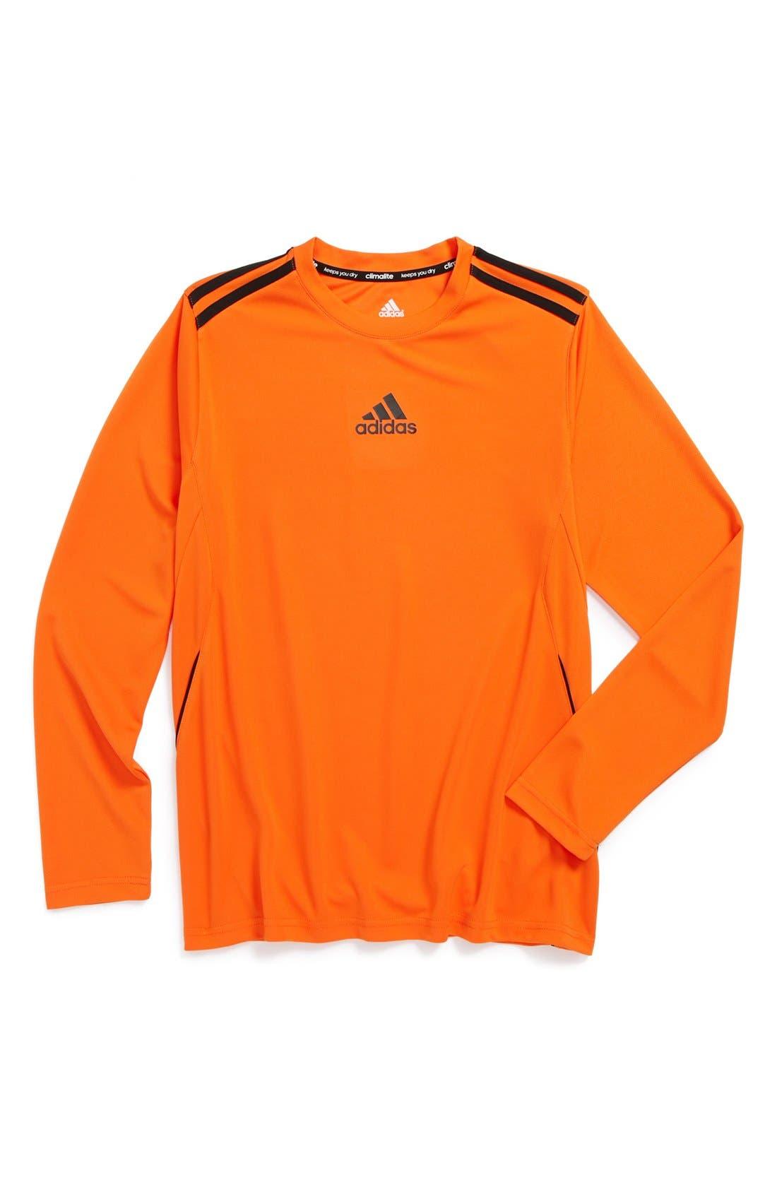 Alternate Image 1 Selected - adidas ClimaCore Long Sleeve Shirt (Big Boys)