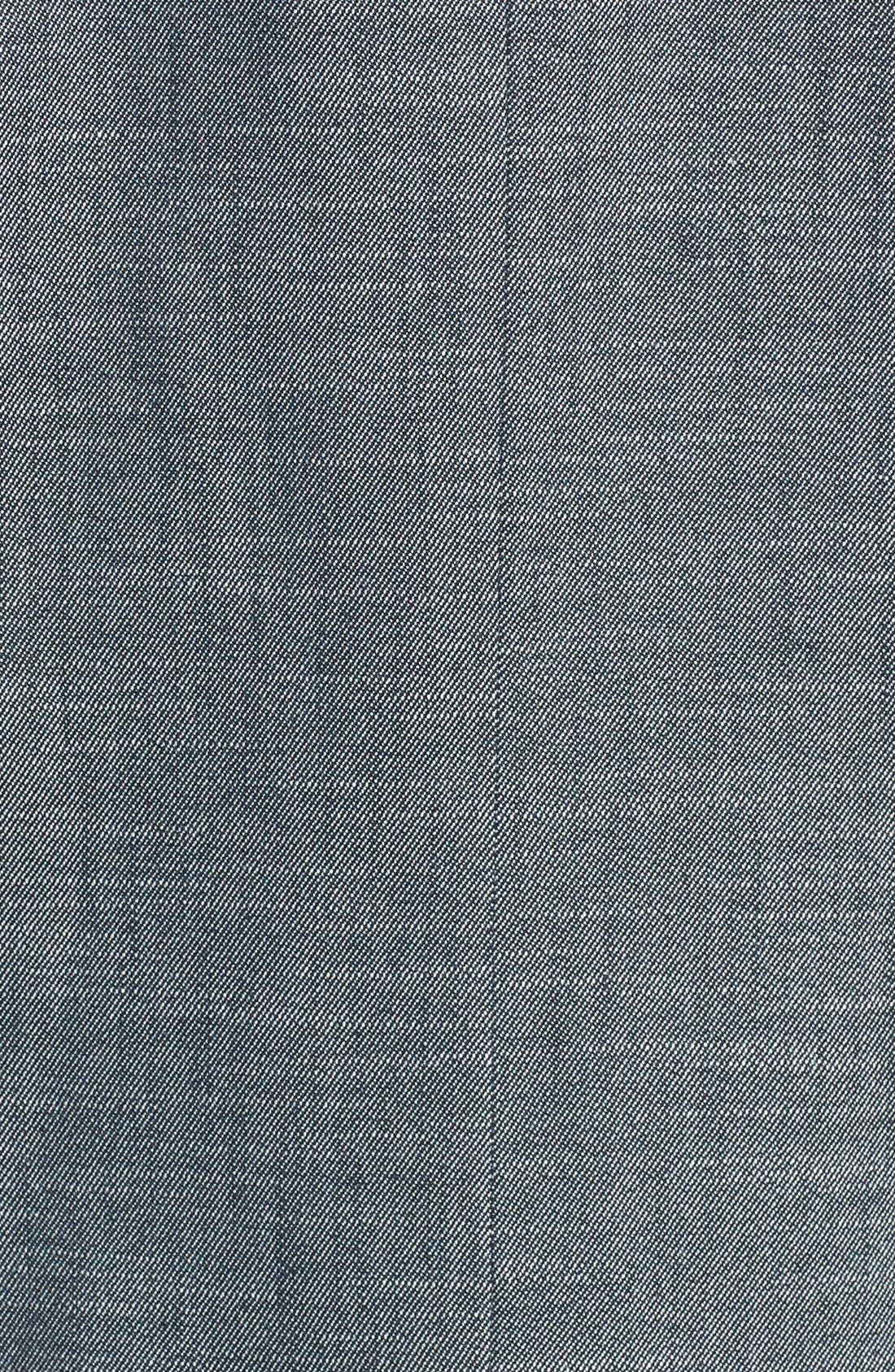 Alternate Image 3  - Halogen® 'Indigo Crosshatch' Single-Button Suit Jacket