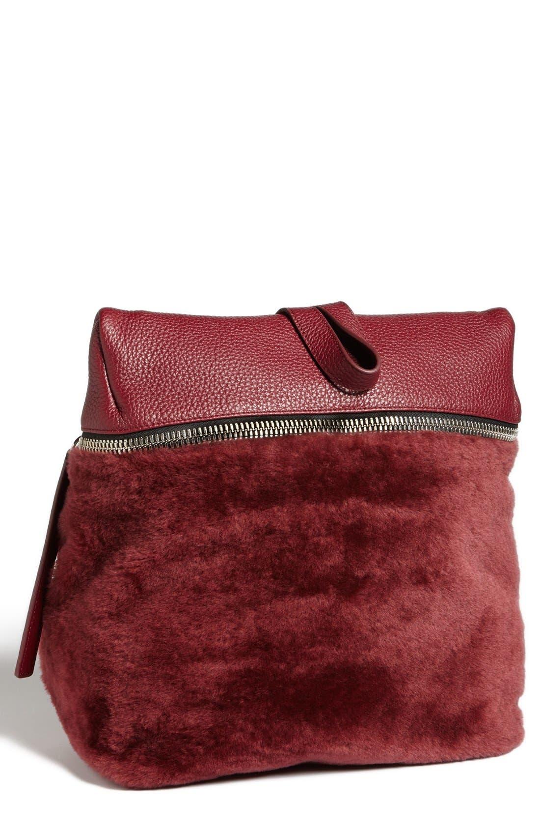 Alternate Image 2  - Kara Genuine Shearling Backpack, Medium