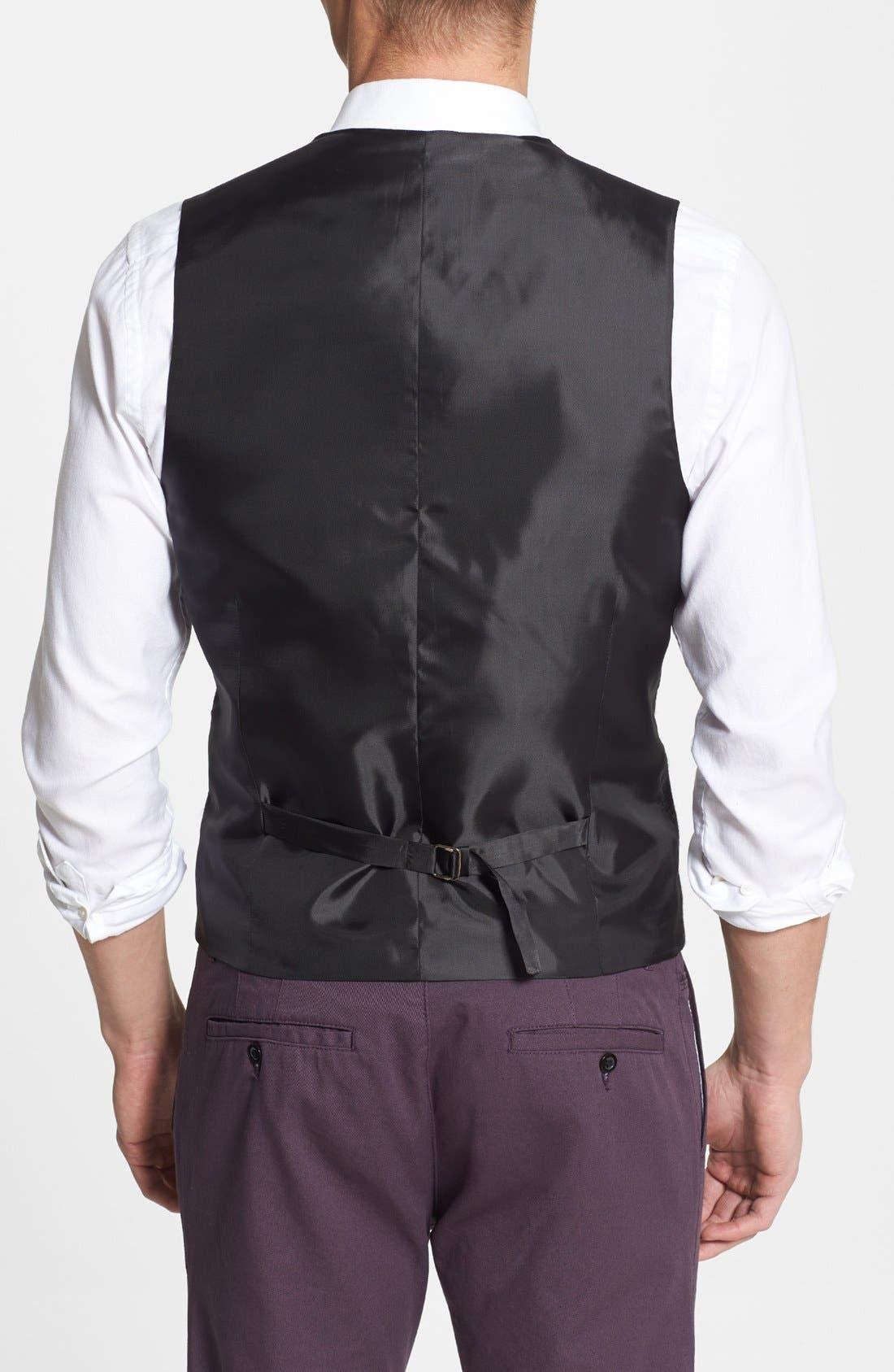 Alternate Image 2  - Topman Skinny Fit Check Wool Blend Vest