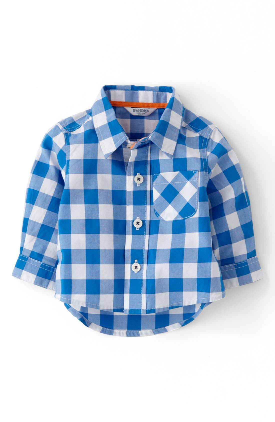 Alternate Image 1 Selected - Mini Boden 'Laundered' Woven Shirt (Baby Boys)