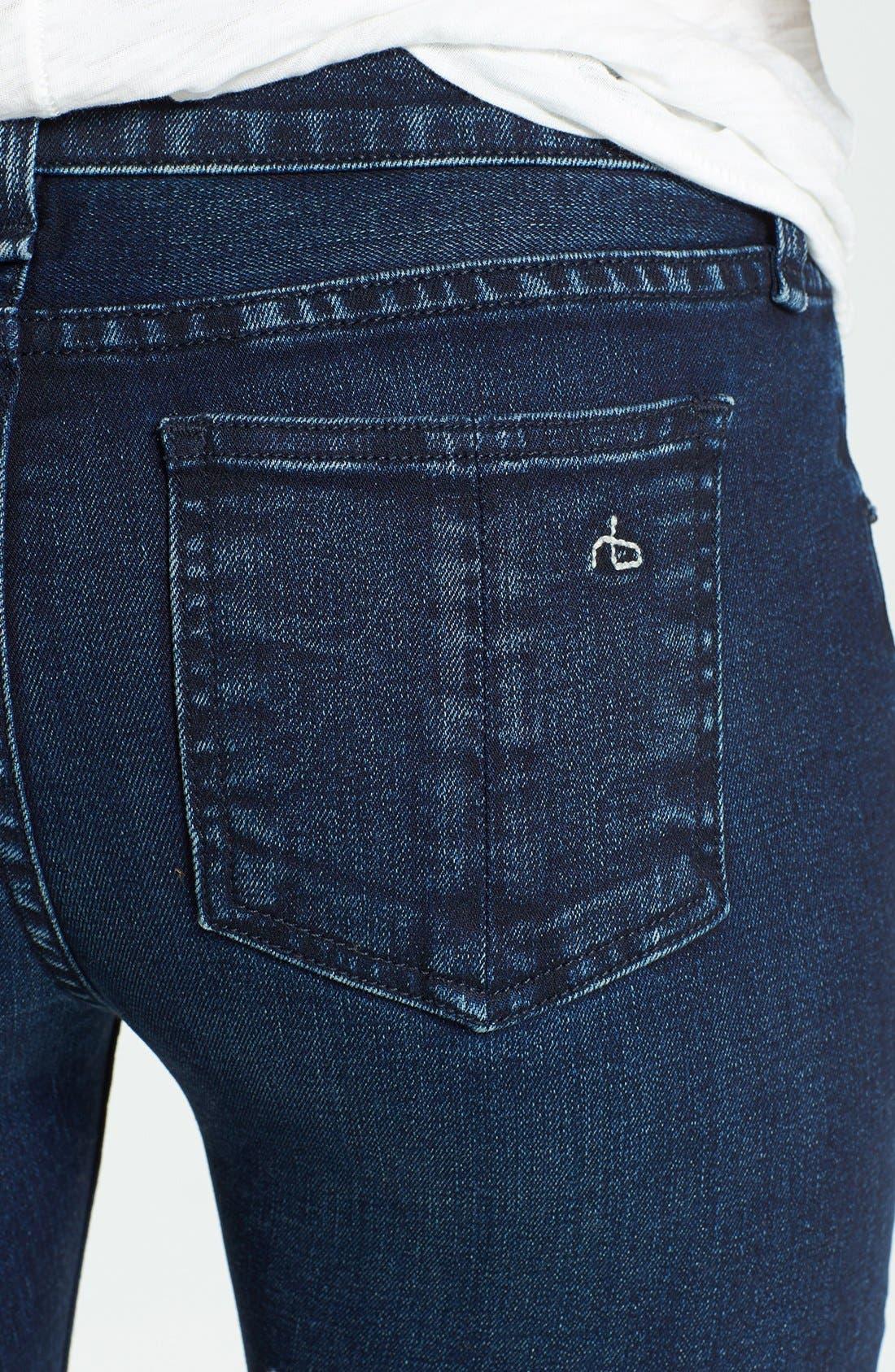 Alternate Image 3  - rag & bone/JEAN Skinny Stretch Jeans (Coronado)
