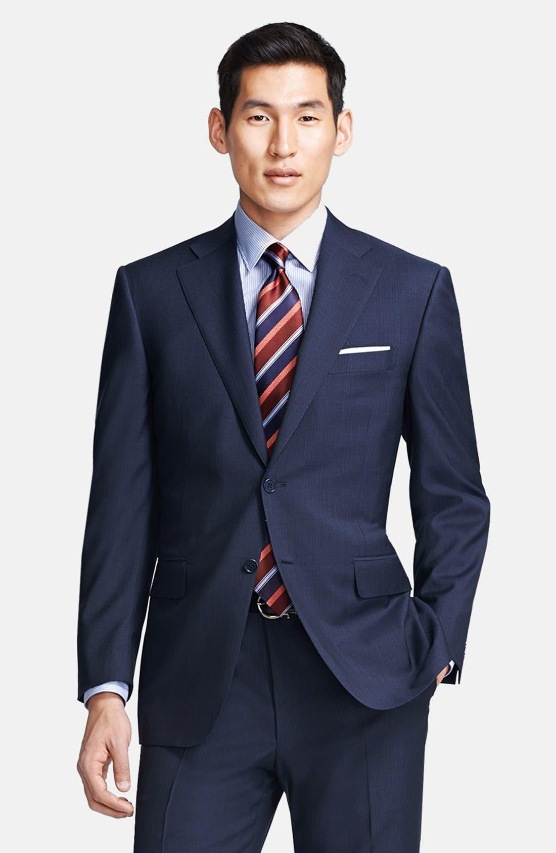 Alternate Image 3  - Canali Classic Fit Stripe Suit