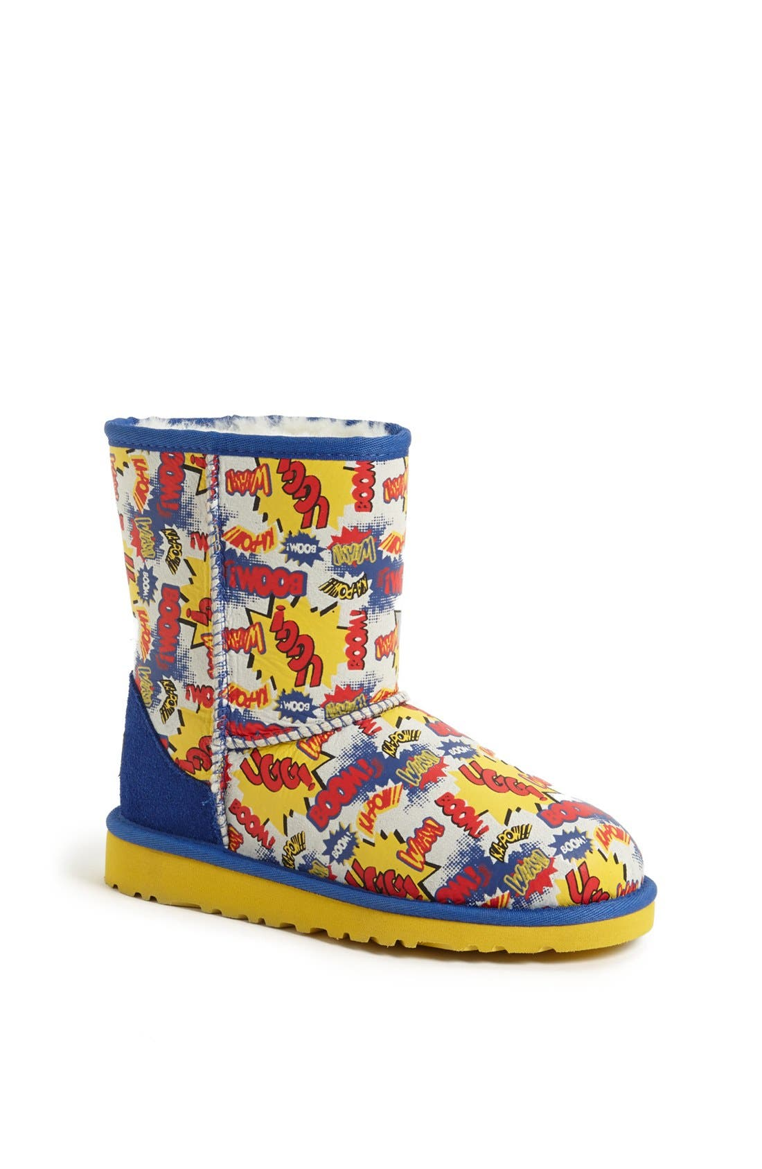 Main Image - UGG® Australia 'Classic Short - Comic' Print Boot (Walker, Toddler, Little Kid & Big Kid)