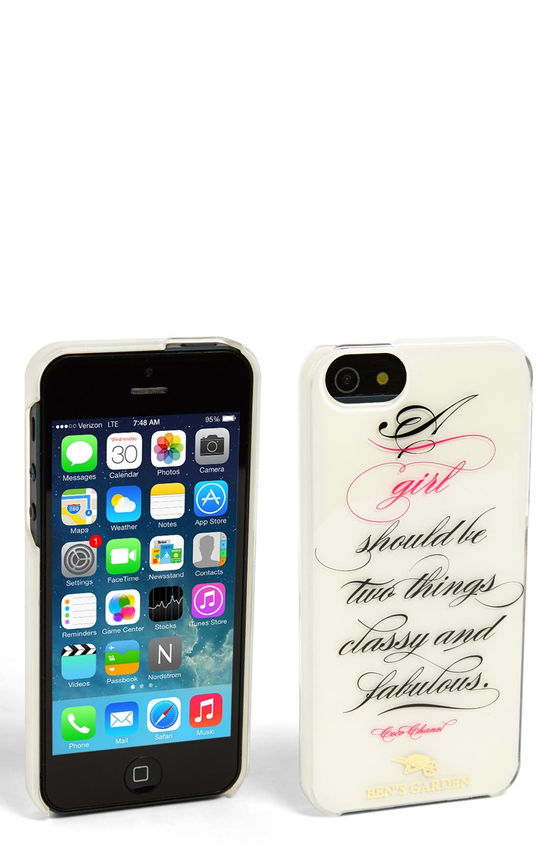 Alternate Image 1 Selected - Ben's Garden 'A Girl Should Be Two Things: Classy and Fabulous' iPhone 5 & 5s Case