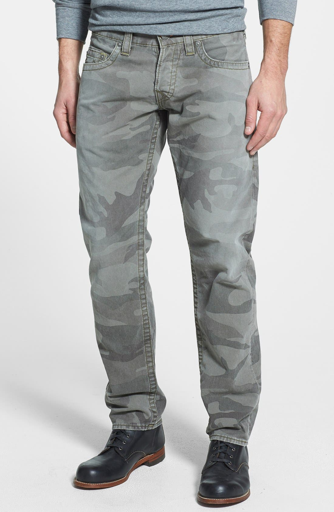 Alternate Image 2  - True Religion Brand Jeans 'Geno' Straight Leg Camo Jeans (Abn Deringer)