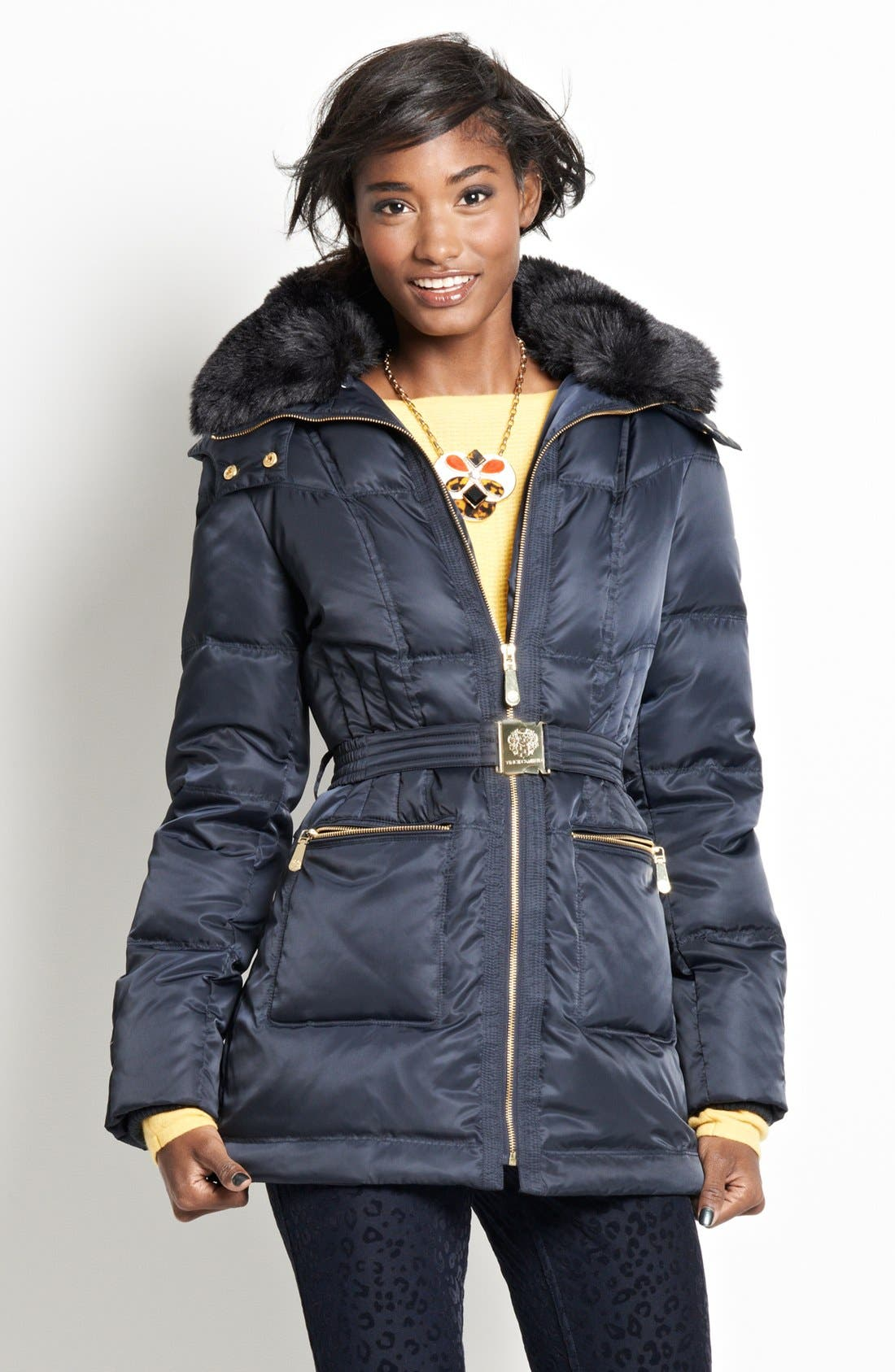 Alternate Image 5  - Vince Camuto Faux Fur Collar Down & Feather Parka