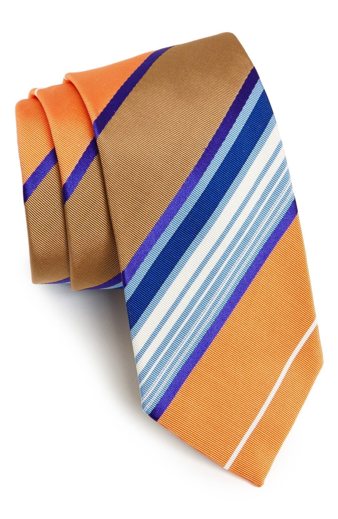 Main Image - Etro Woven Silk & Cotton Tie